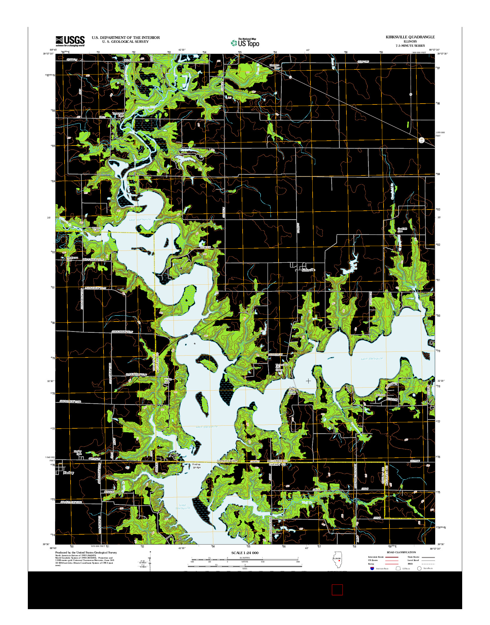 USGS US TOPO 7.5-MINUTE MAP FOR KIRKSVILLE, IL 2012