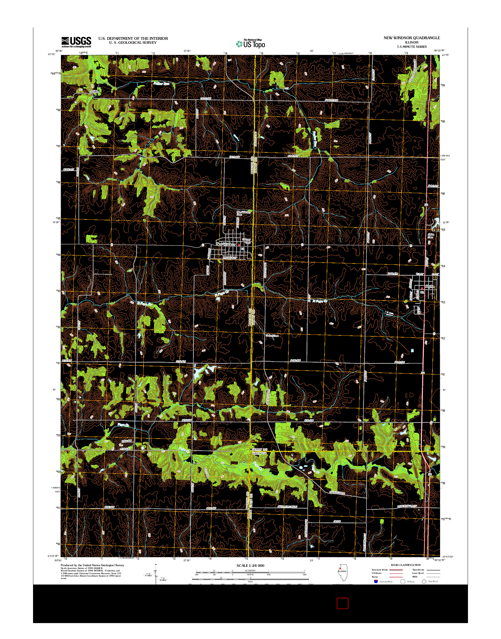 USGS US TOPO 7.5-MINUTE MAP FOR NEW WINDSOR, IL 2012