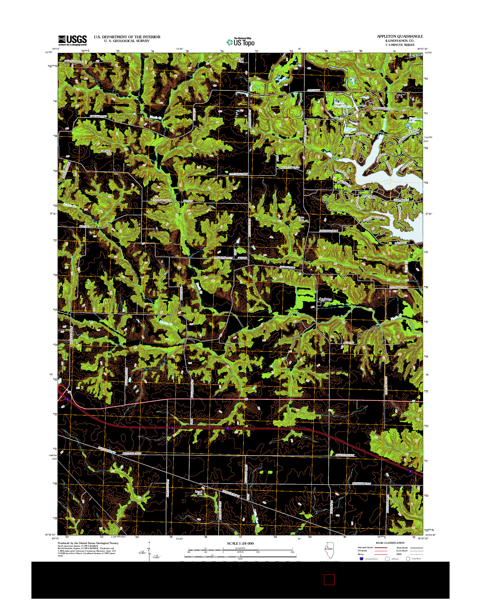 USGS US TOPO 7.5-MINUTE MAP FOR APPLETON, IL 2012