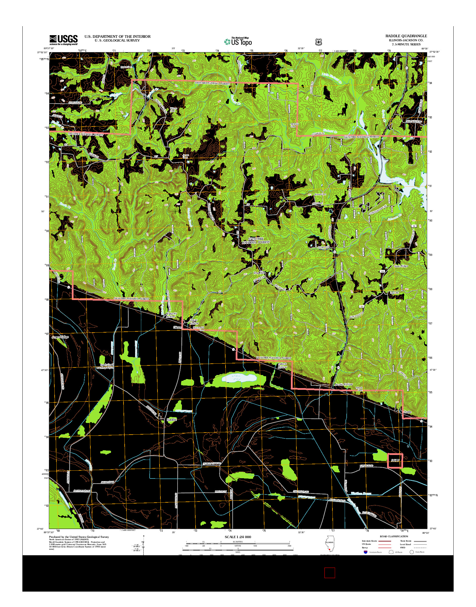 USGS US TOPO 7.5-MINUTE MAP FOR RADDLE, IL 2012
