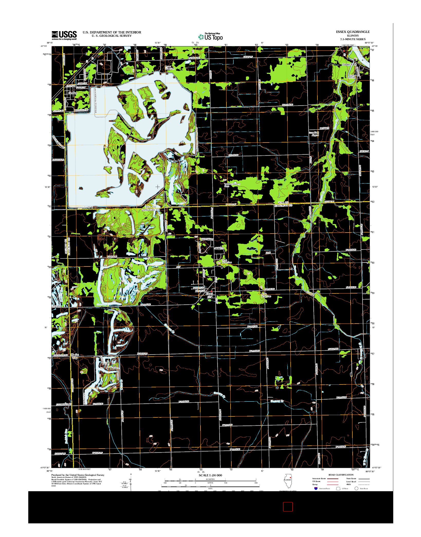 USGS US TOPO 7.5-MINUTE MAP FOR ESSEX, IL 2012
