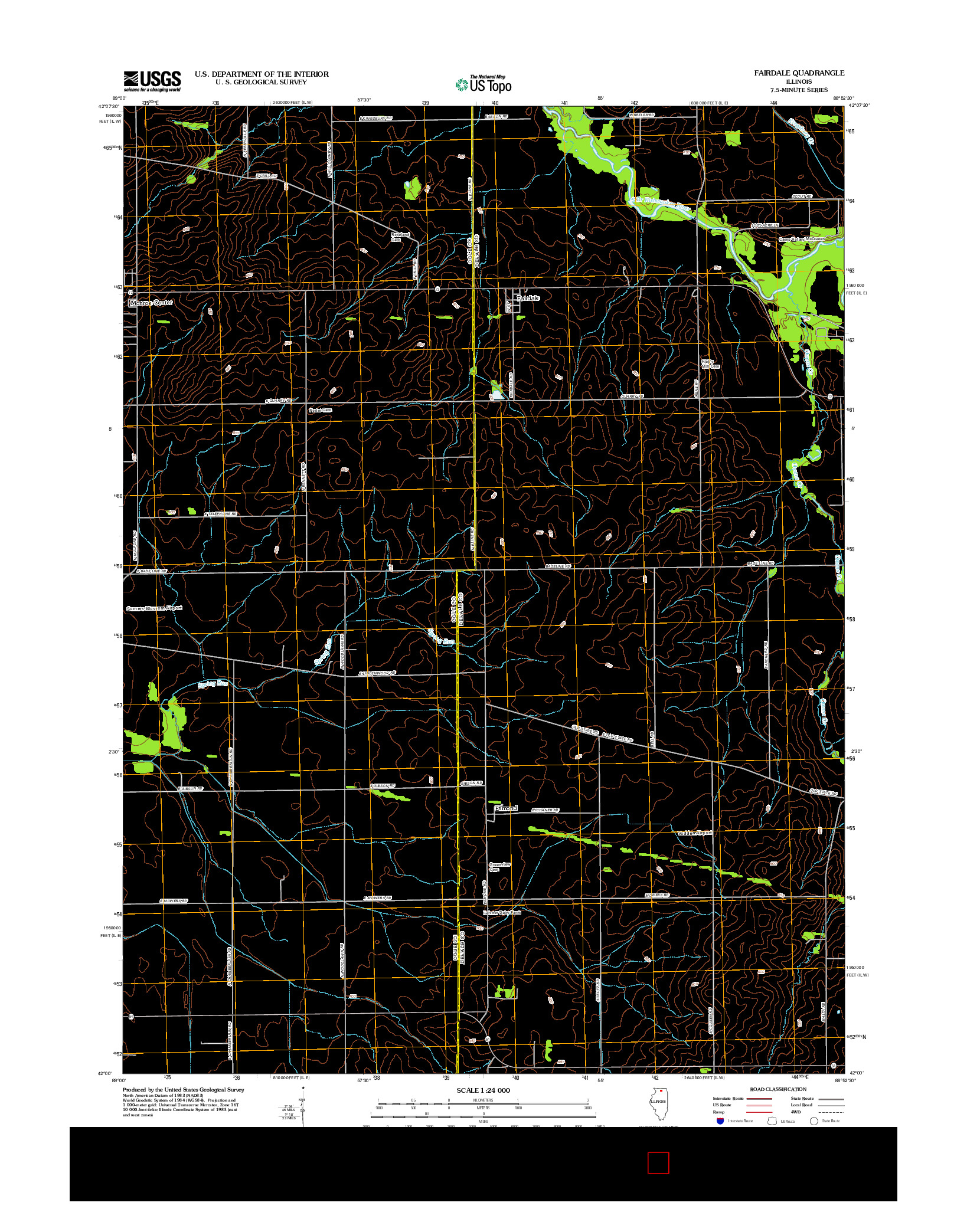 USGS US TOPO 7.5-MINUTE MAP FOR FAIRDALE, IL 2012