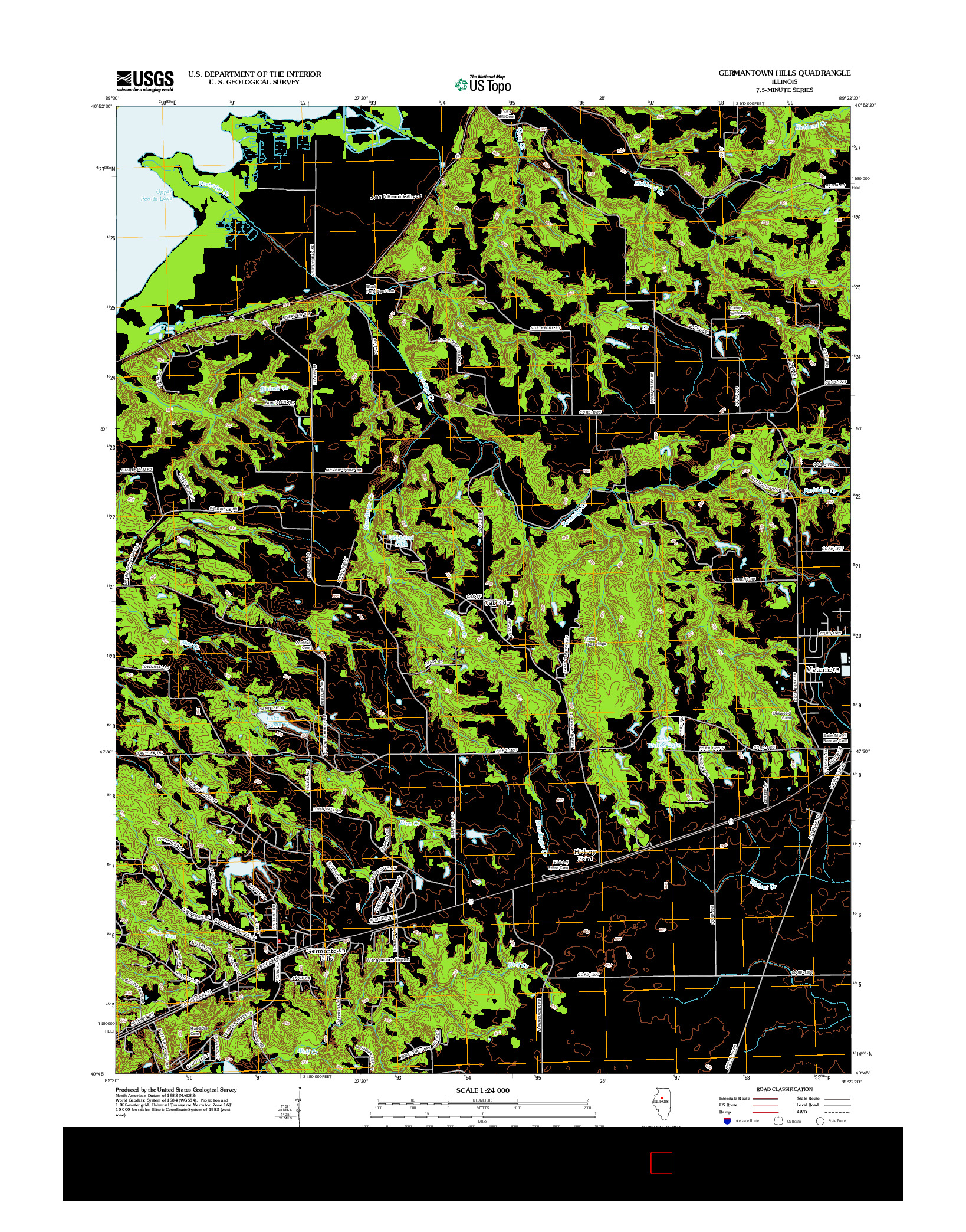 USGS US TOPO 7.5-MINUTE MAP FOR GERMANTOWN HILLS, IL 2012