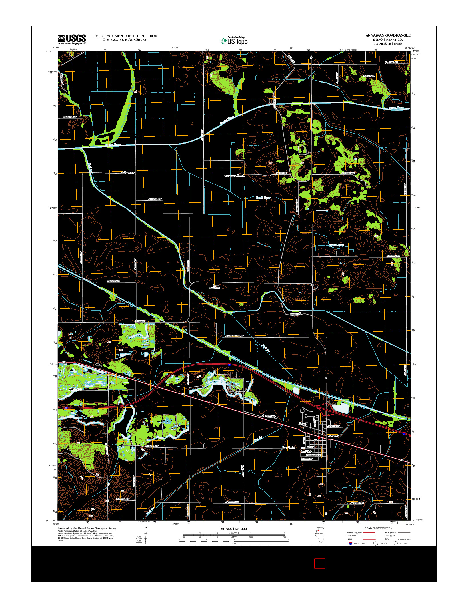 USGS US TOPO 7.5-MINUTE MAP FOR ANNAWAN, IL 2012