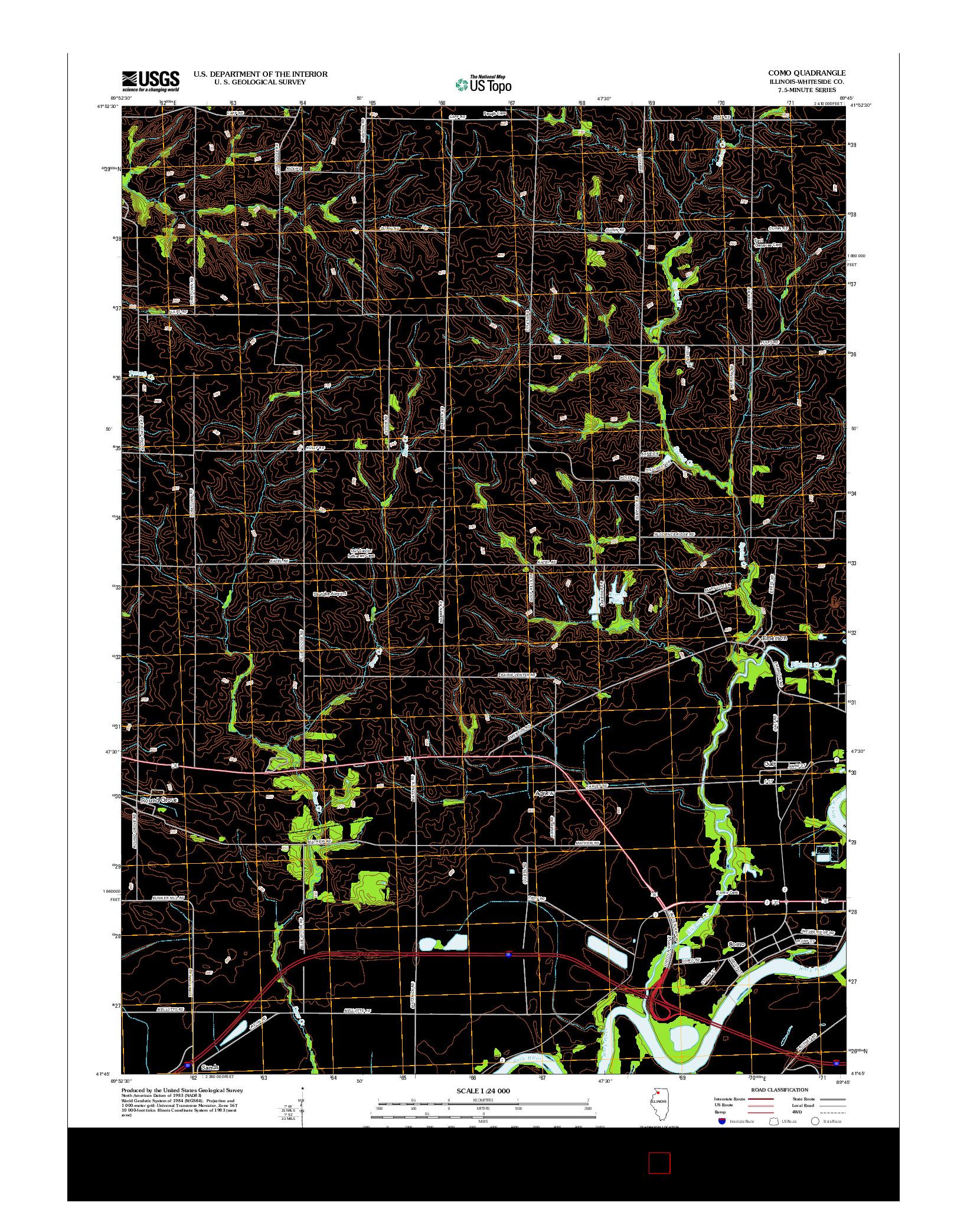 USGS US TOPO 7.5-MINUTE MAP FOR COMO, IL 2012