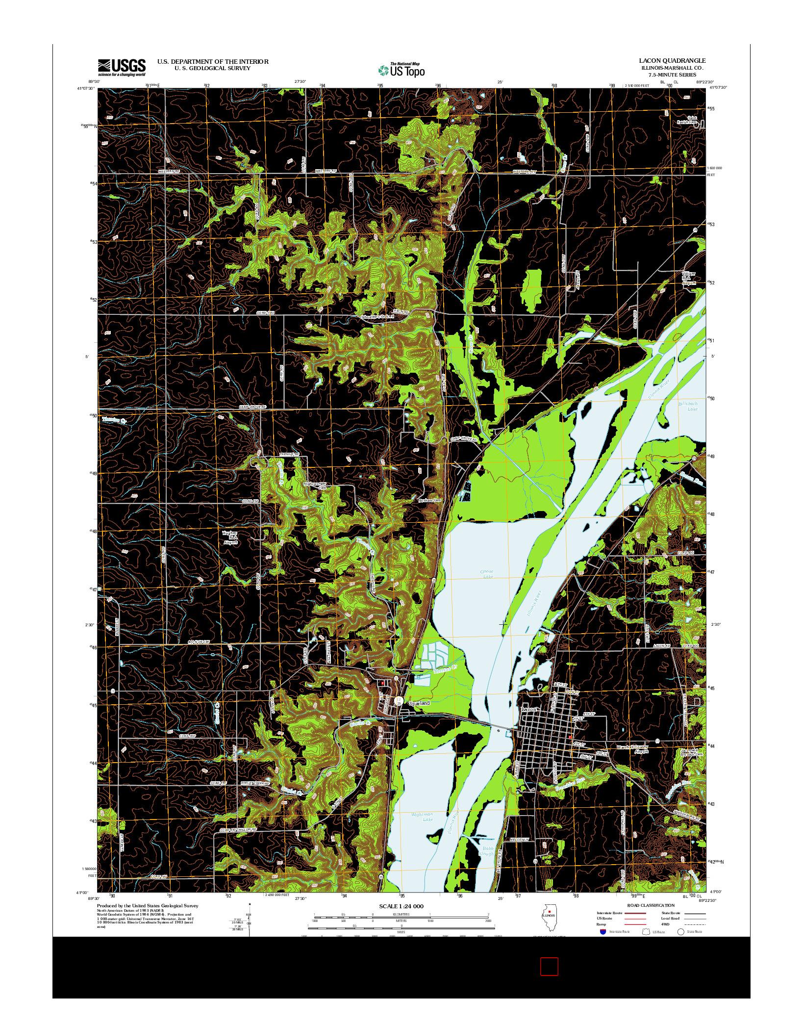 USGS US TOPO 7.5-MINUTE MAP FOR LACON, IL 2012