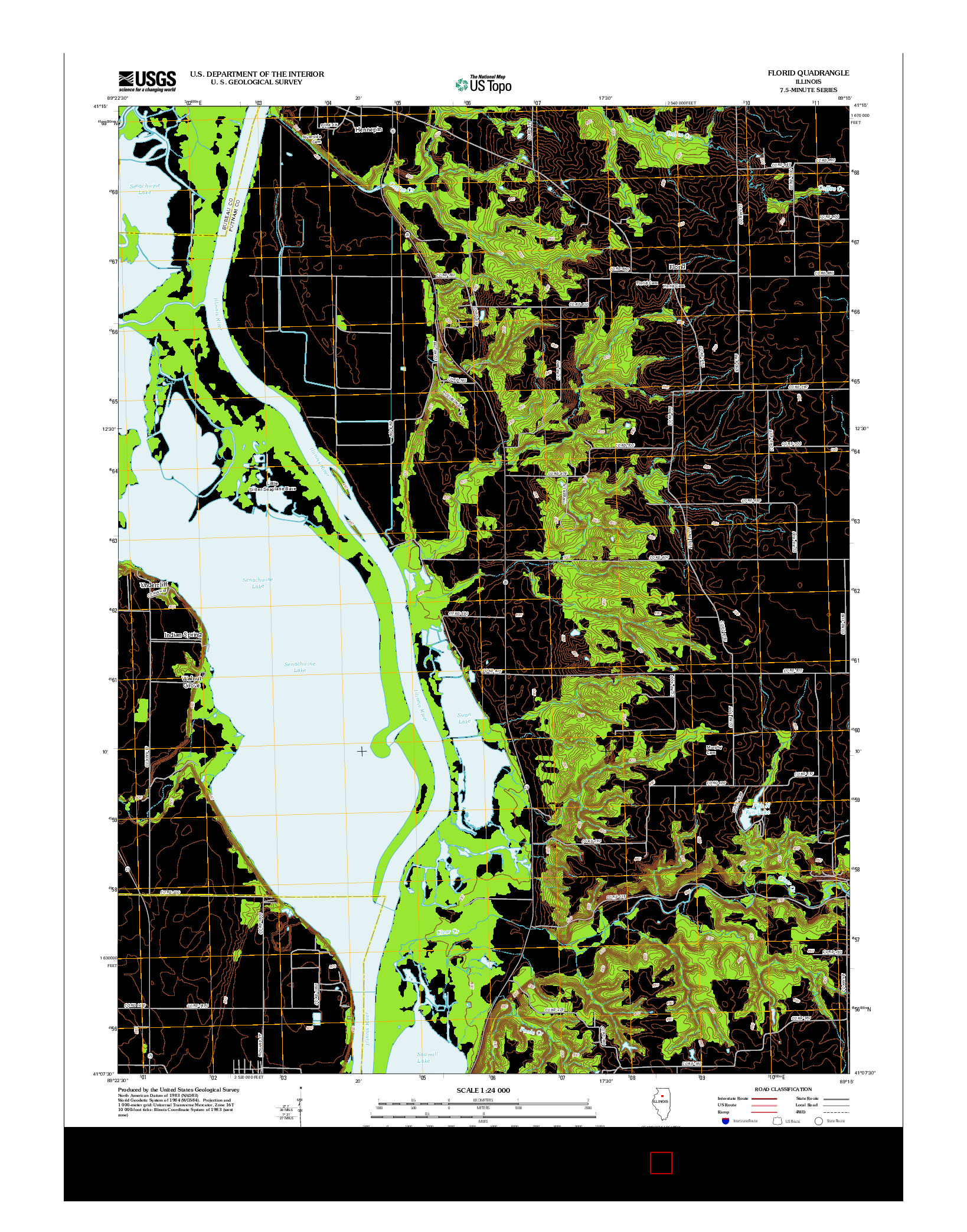 USGS US TOPO 7.5-MINUTE MAP FOR FLORID, IL 2012