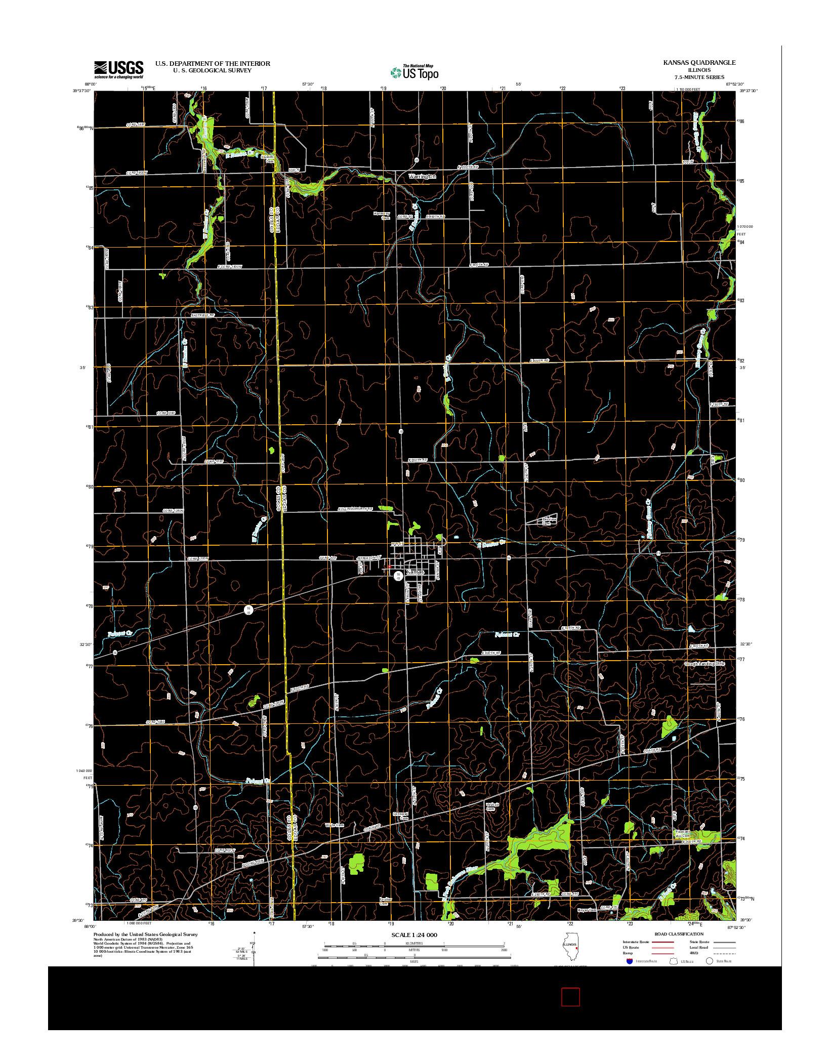 USGS US TOPO 7.5-MINUTE MAP FOR KANSAS, IL 2012