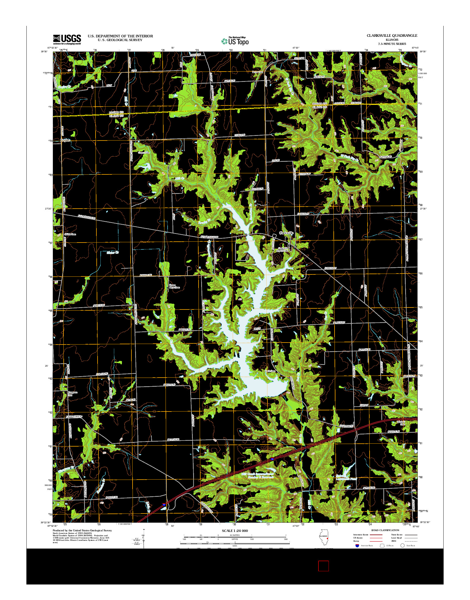 USGS US TOPO 7.5-MINUTE MAP FOR CLARKSVILLE, IL 2012