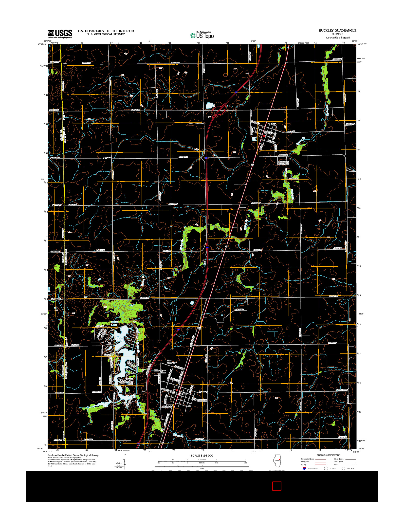 USGS US TOPO 7.5-MINUTE MAP FOR BUCKLEY, IL 2012
