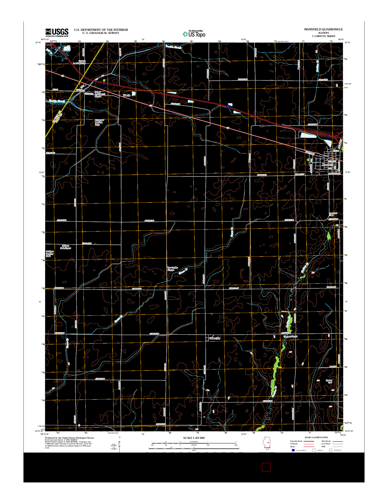 USGS US TOPO 7.5-MINUTE MAP FOR MANSFIELD, IL 2012
