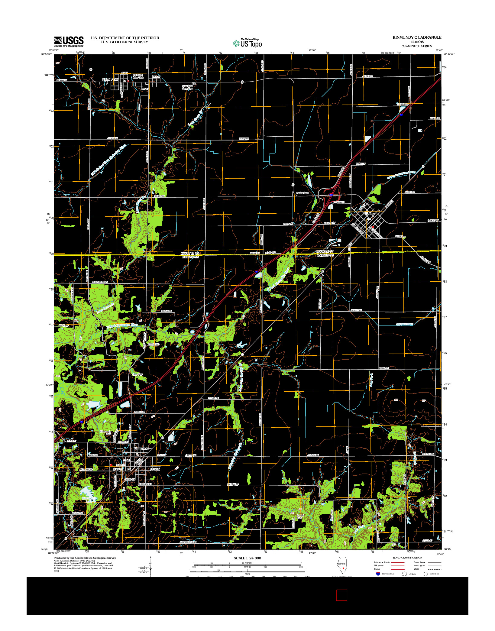 USGS US TOPO 7.5-MINUTE MAP FOR KINMUNDY, IL 2012