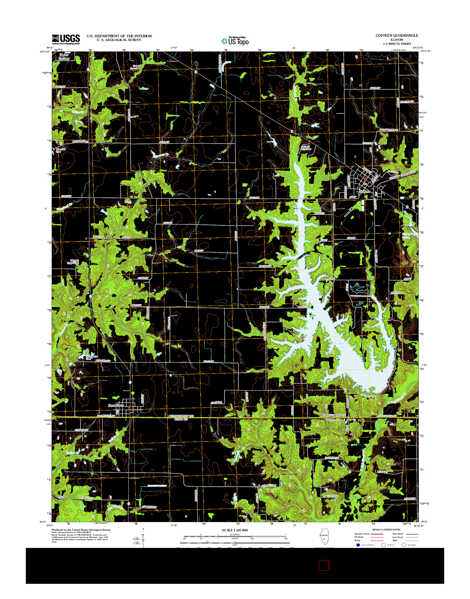 USGS US TOPO 7.5-MINUTE MAP FOR COFFEEN, IL 2012