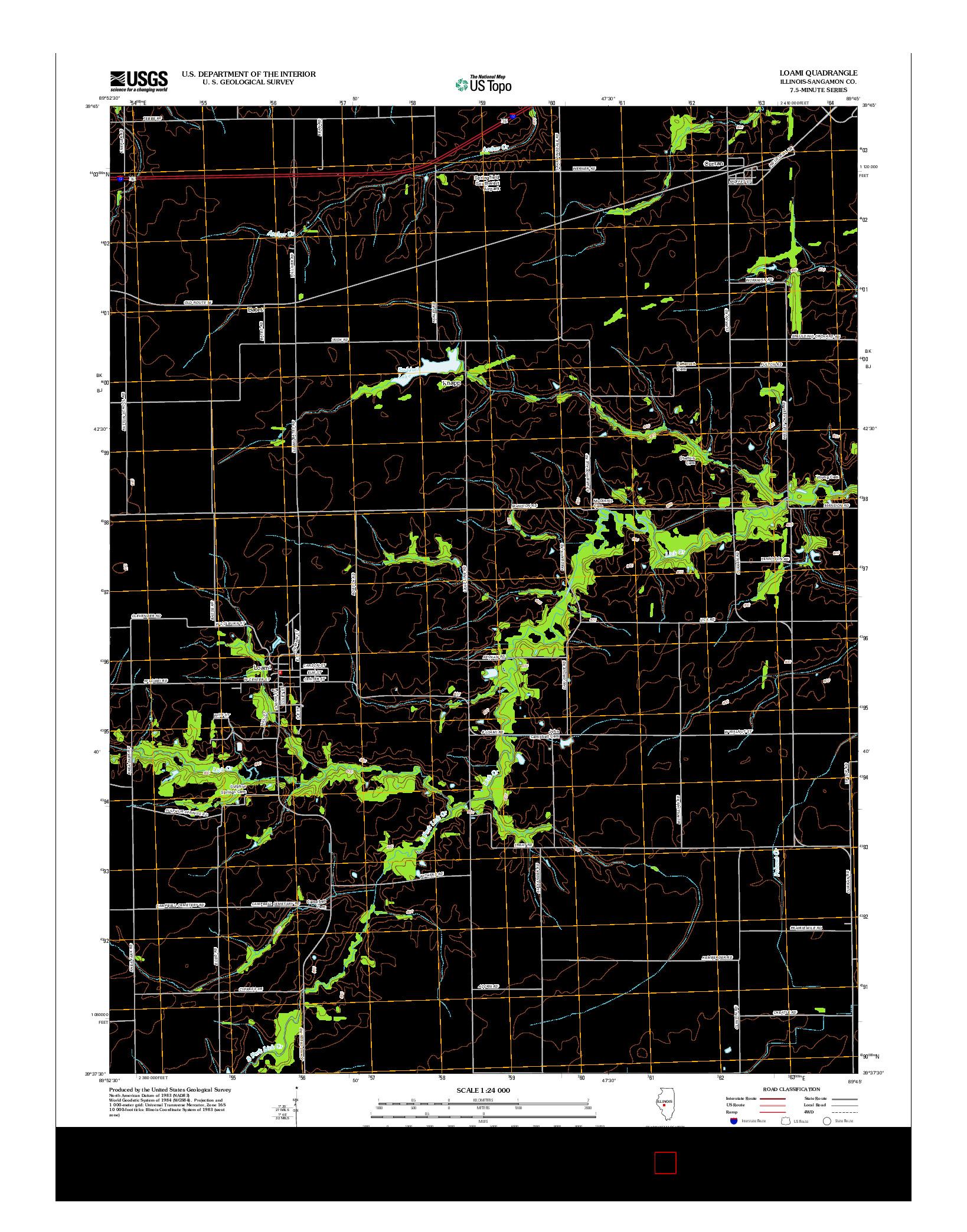 USGS US TOPO 7.5-MINUTE MAP FOR LOAMI, IL 2012
