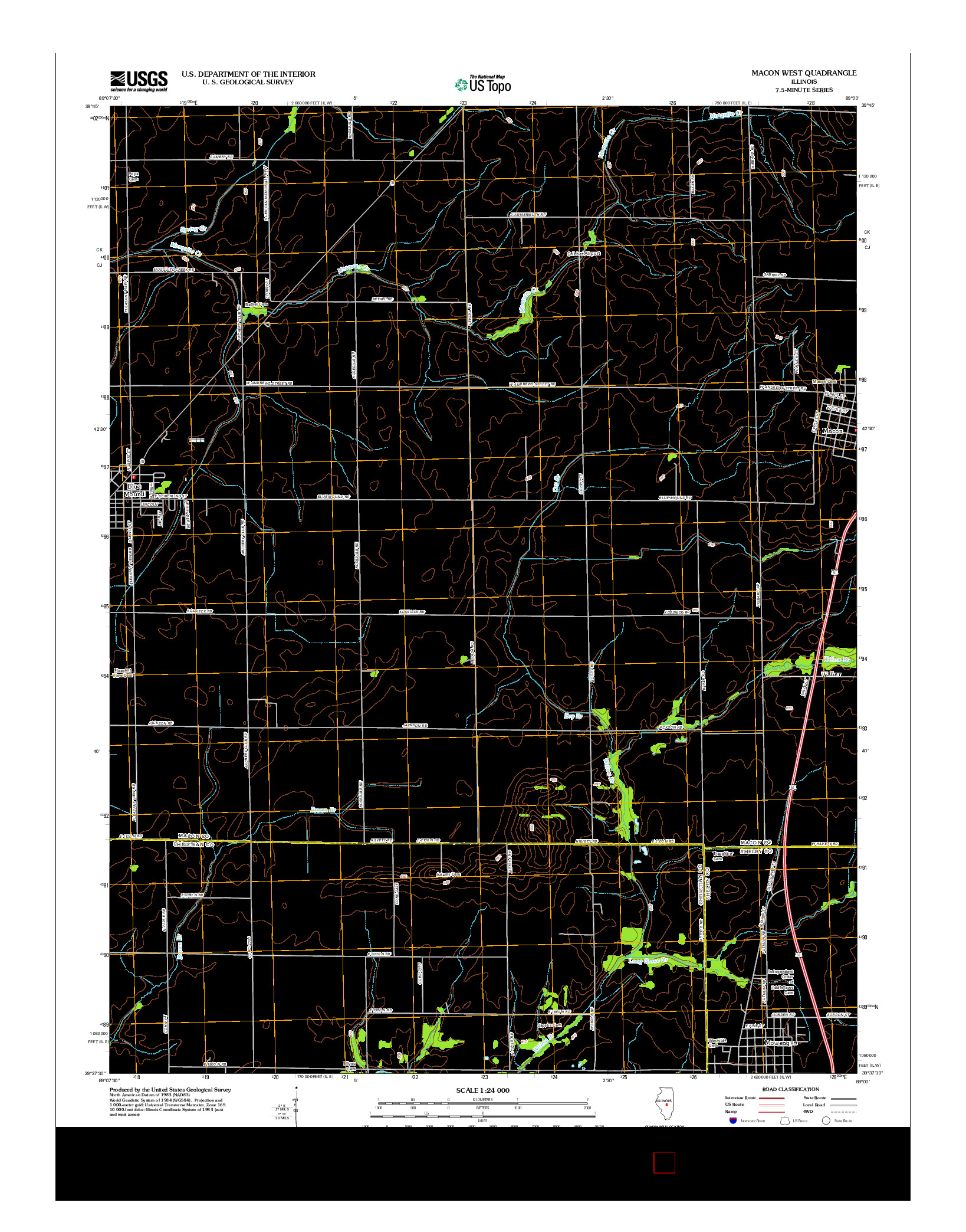 USGS US TOPO 7.5-MINUTE MAP FOR MACON WEST, IL 2012