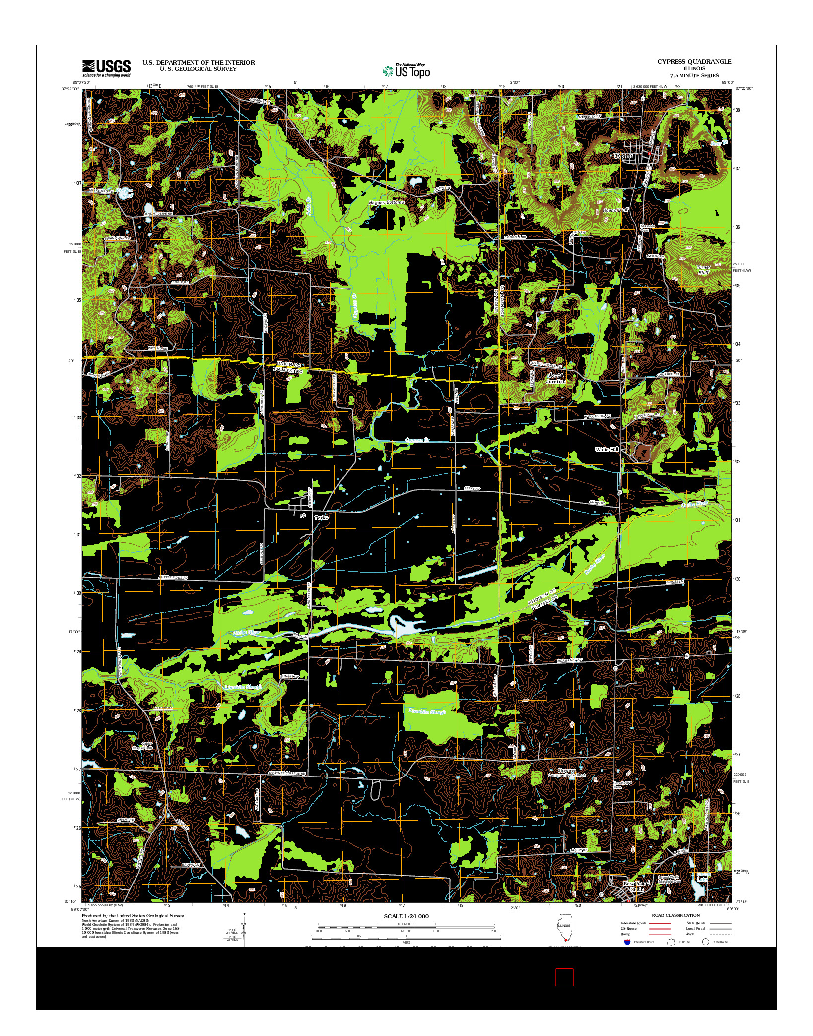 USGS US TOPO 7.5-MINUTE MAP FOR CYPRESS, IL 2012