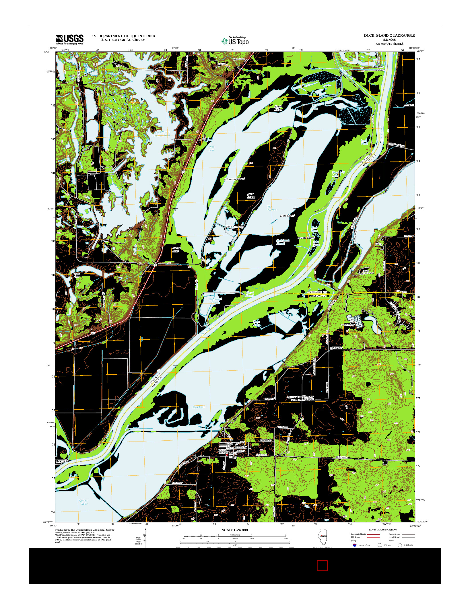 USGS US TOPO 7.5-MINUTE MAP FOR DUCK ISLAND, IL 2012