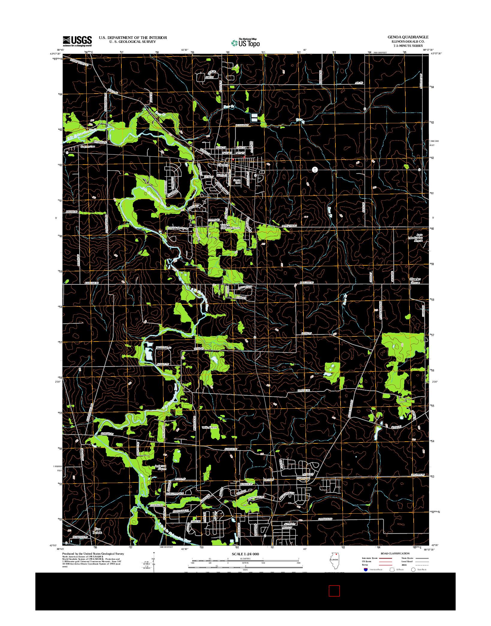USGS US TOPO 7.5-MINUTE MAP FOR GENOA, IL 2012
