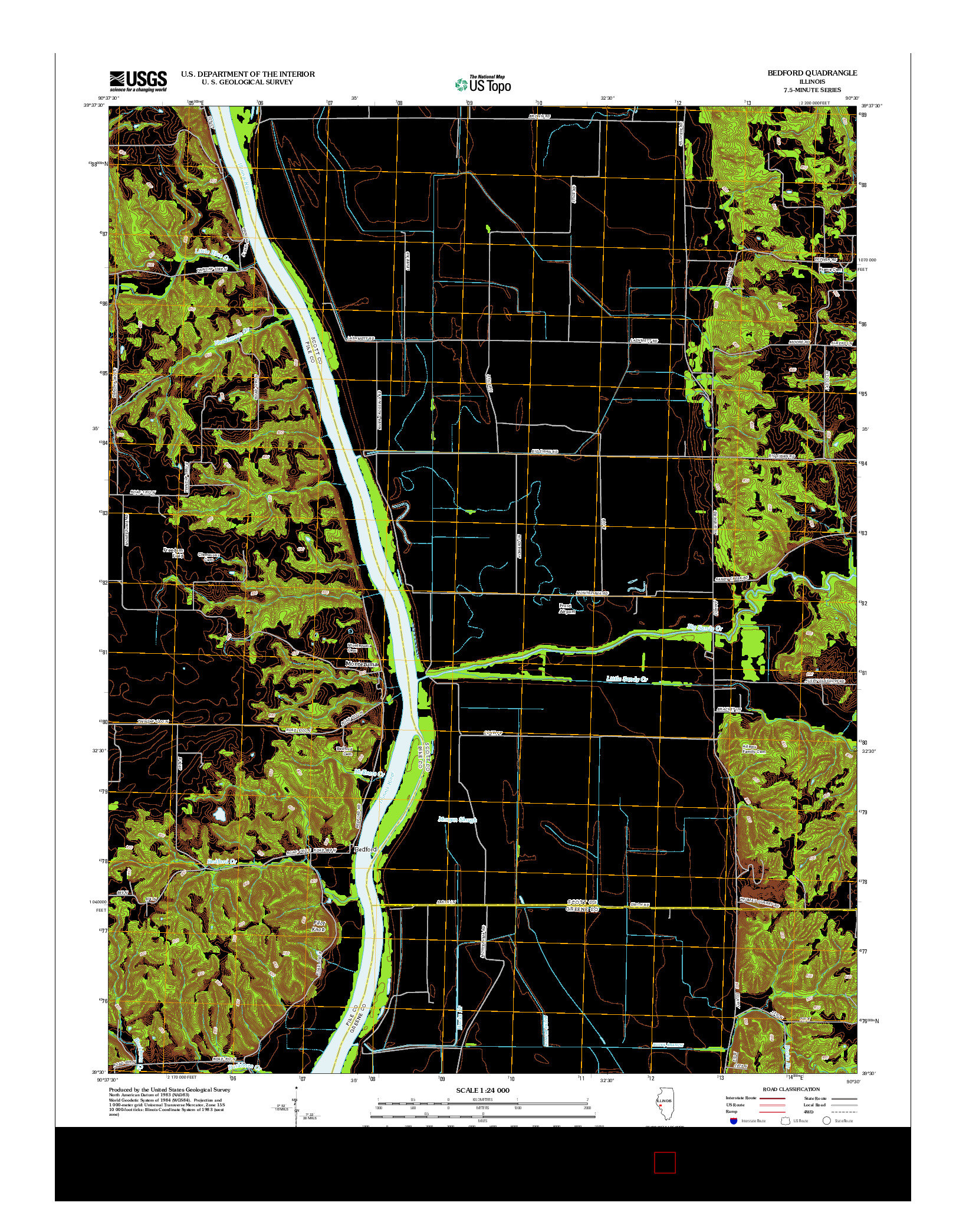 USGS US TOPO 7.5-MINUTE MAP FOR BEDFORD, IL 2012