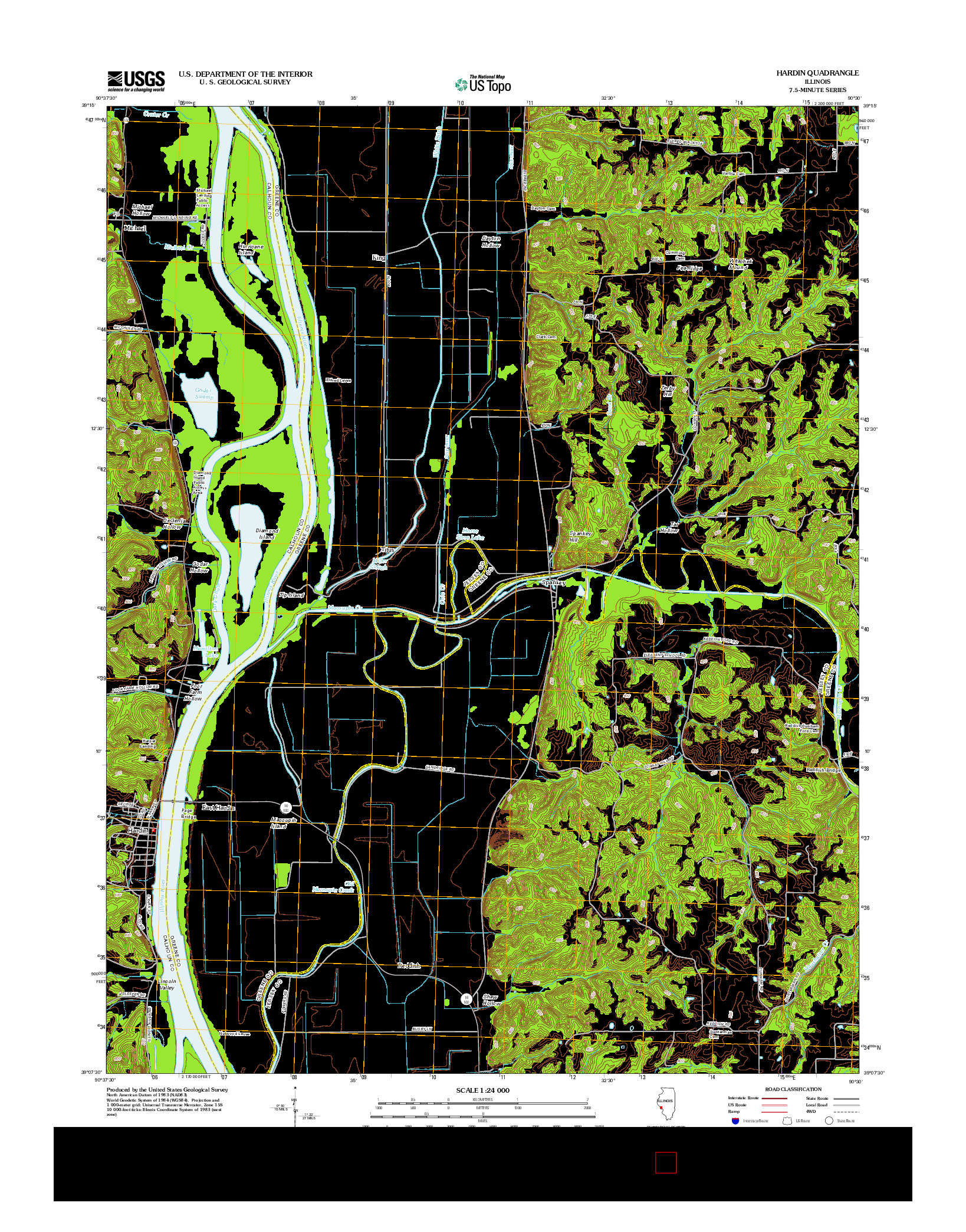 USGS US TOPO 7.5-MINUTE MAP FOR HARDIN, IL 2012
