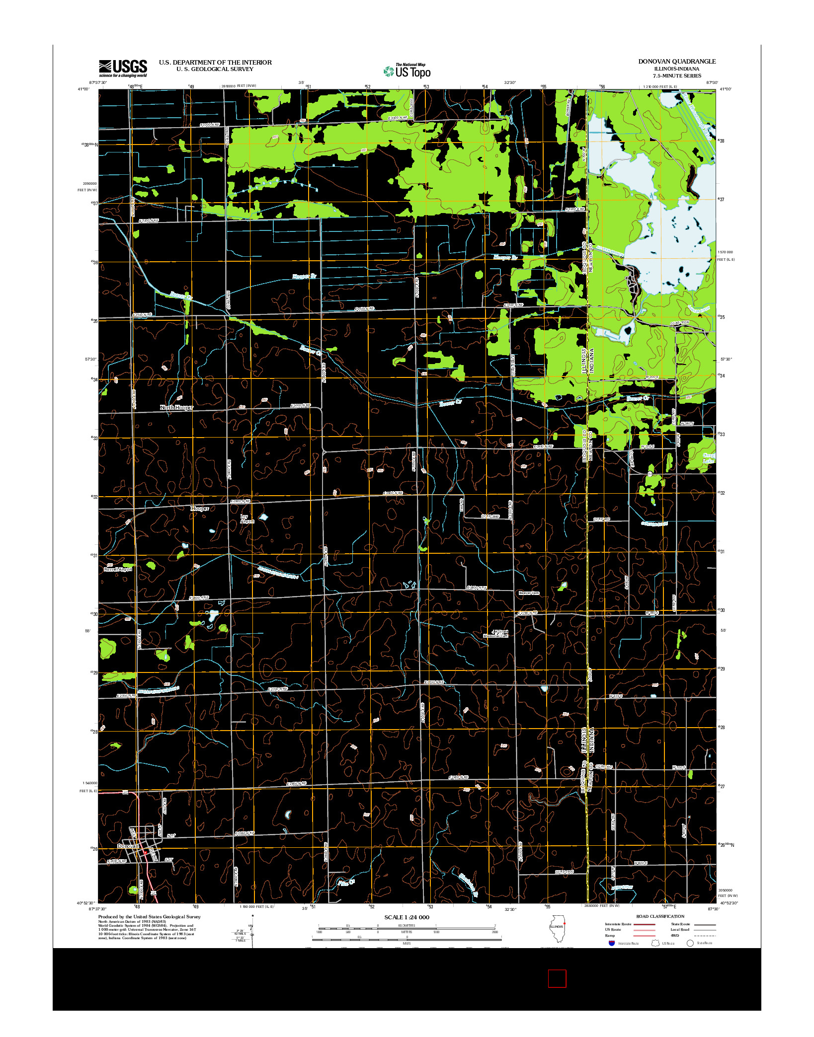 USGS US TOPO 7.5-MINUTE MAP FOR DONOVAN, IL-IN 2012