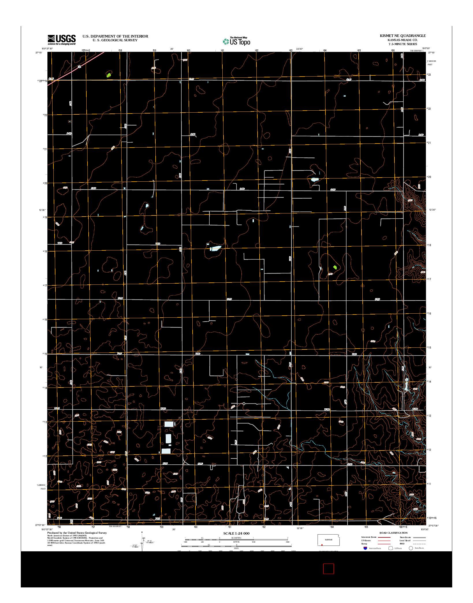 USGS US TOPO 7.5-MINUTE MAP FOR KISMET NE, KS 2012