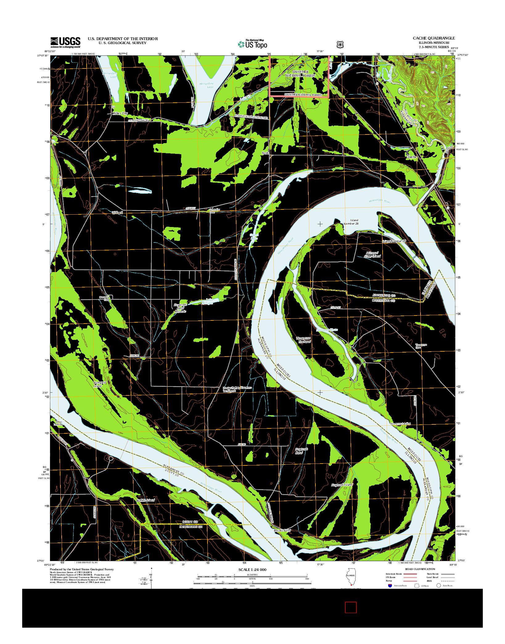 USGS US TOPO 7.5-MINUTE MAP FOR CACHE, IL-MO 2012