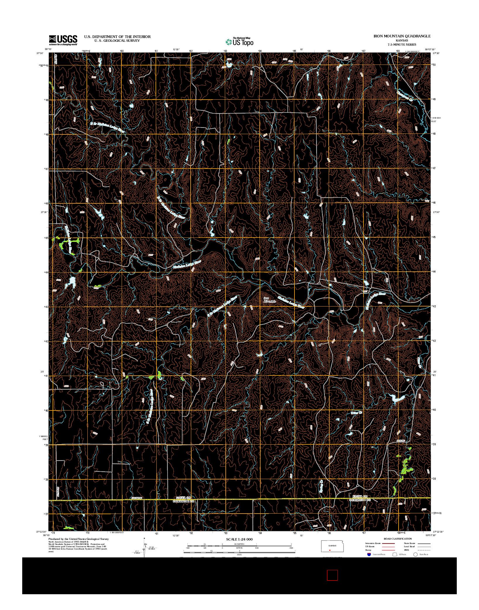 USGS US TOPO 7.5-MINUTE MAP FOR IRON MOUNTAIN, KS 2012