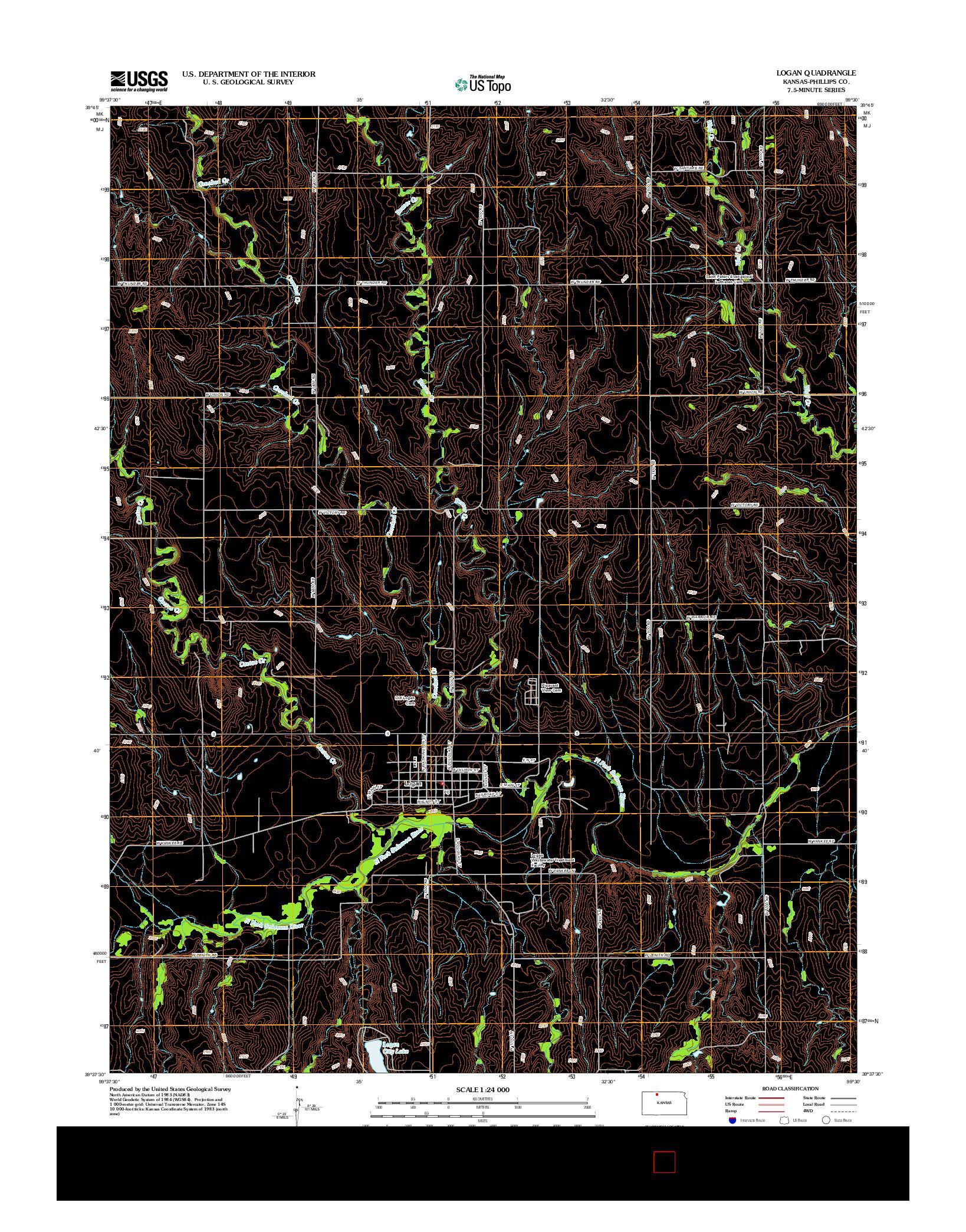 USGS US TOPO 7.5-MINUTE MAP FOR LOGAN, KS 2012