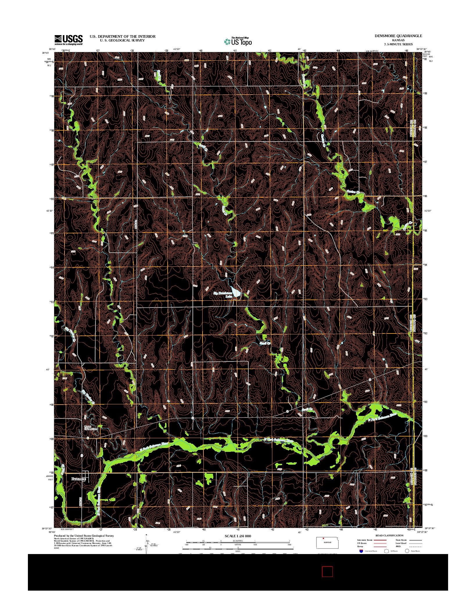 USGS US TOPO 7.5-MINUTE MAP FOR DENSMORE, KS 2012