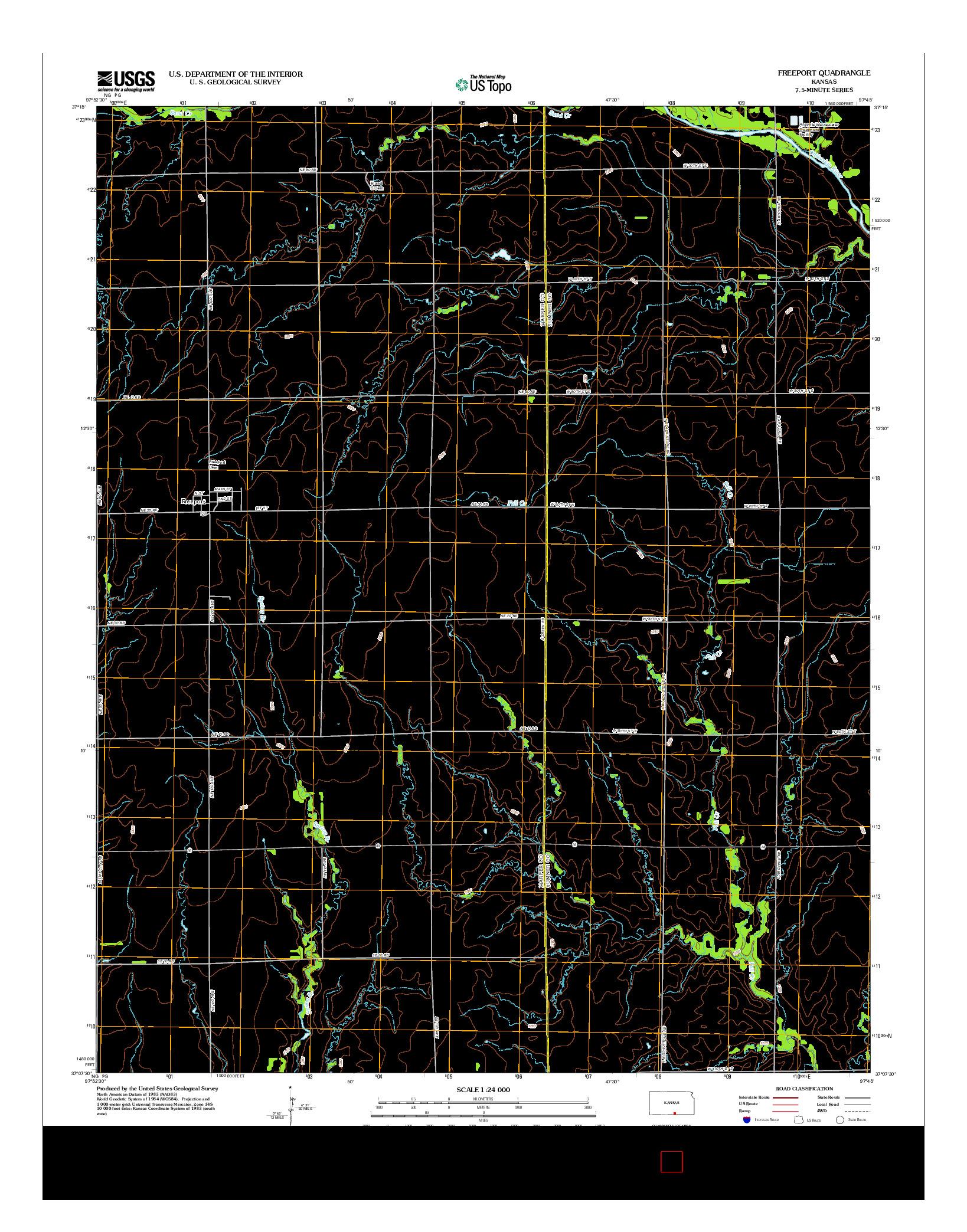 USGS US TOPO 7.5-MINUTE MAP FOR FREEPORT, KS 2012