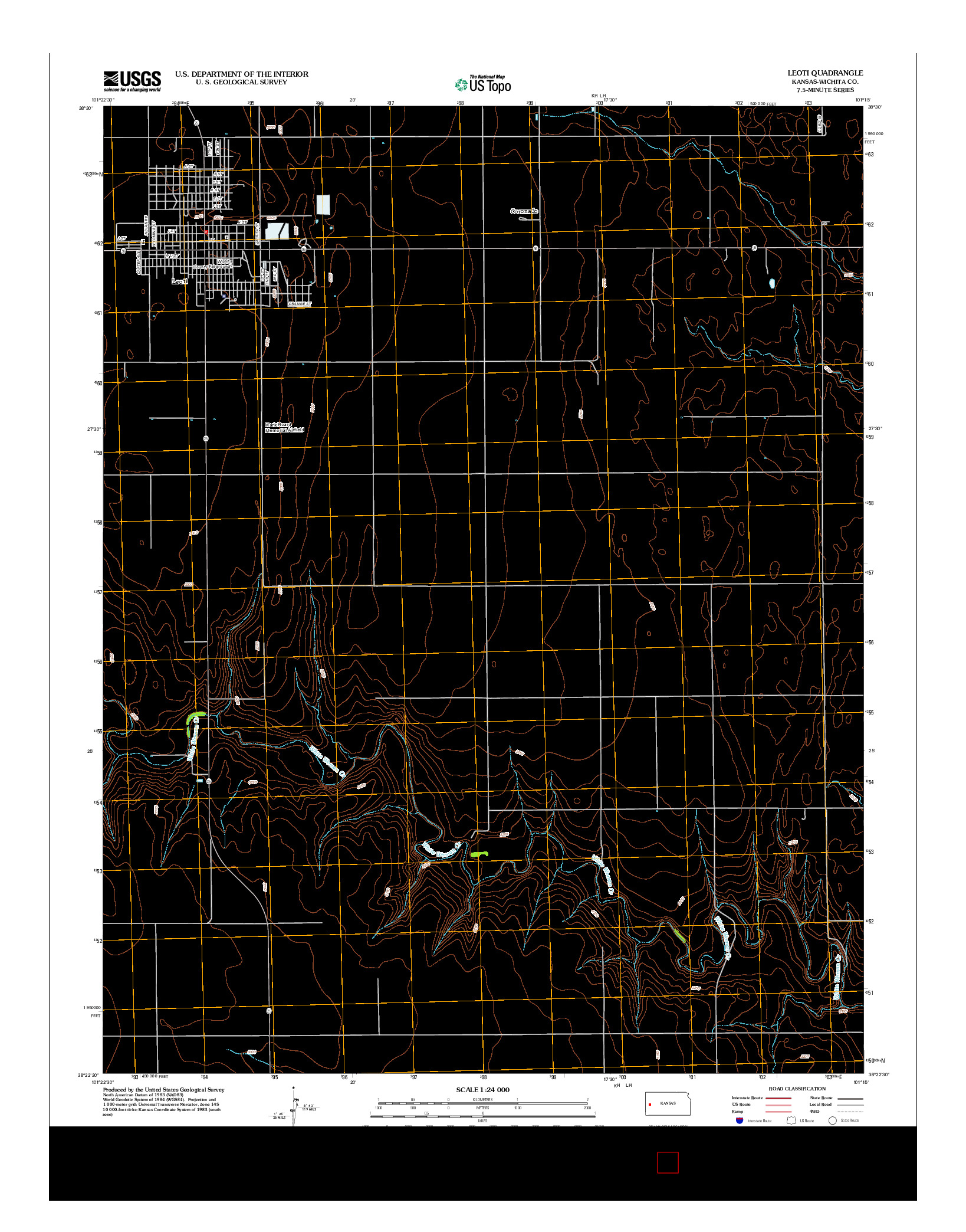 USGS US TOPO 7.5-MINUTE MAP FOR LEOTI, KS 2012
