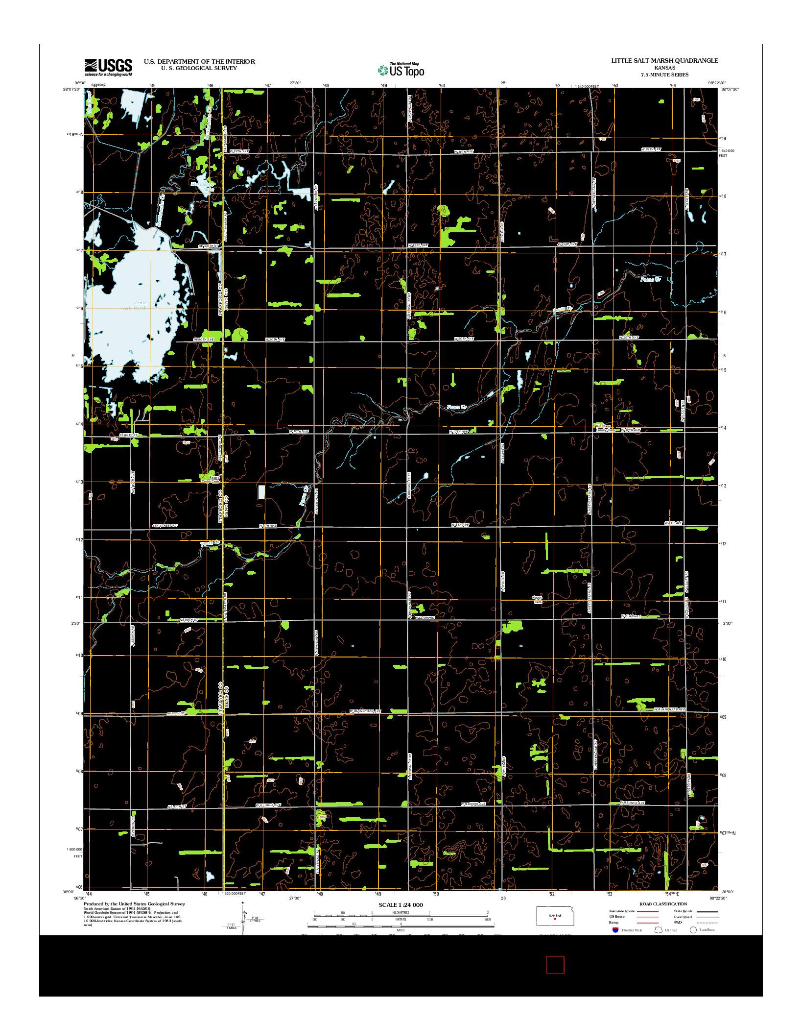 USGS US TOPO 7.5-MINUTE MAP FOR LITTLE SALT MARSH, KS 2012