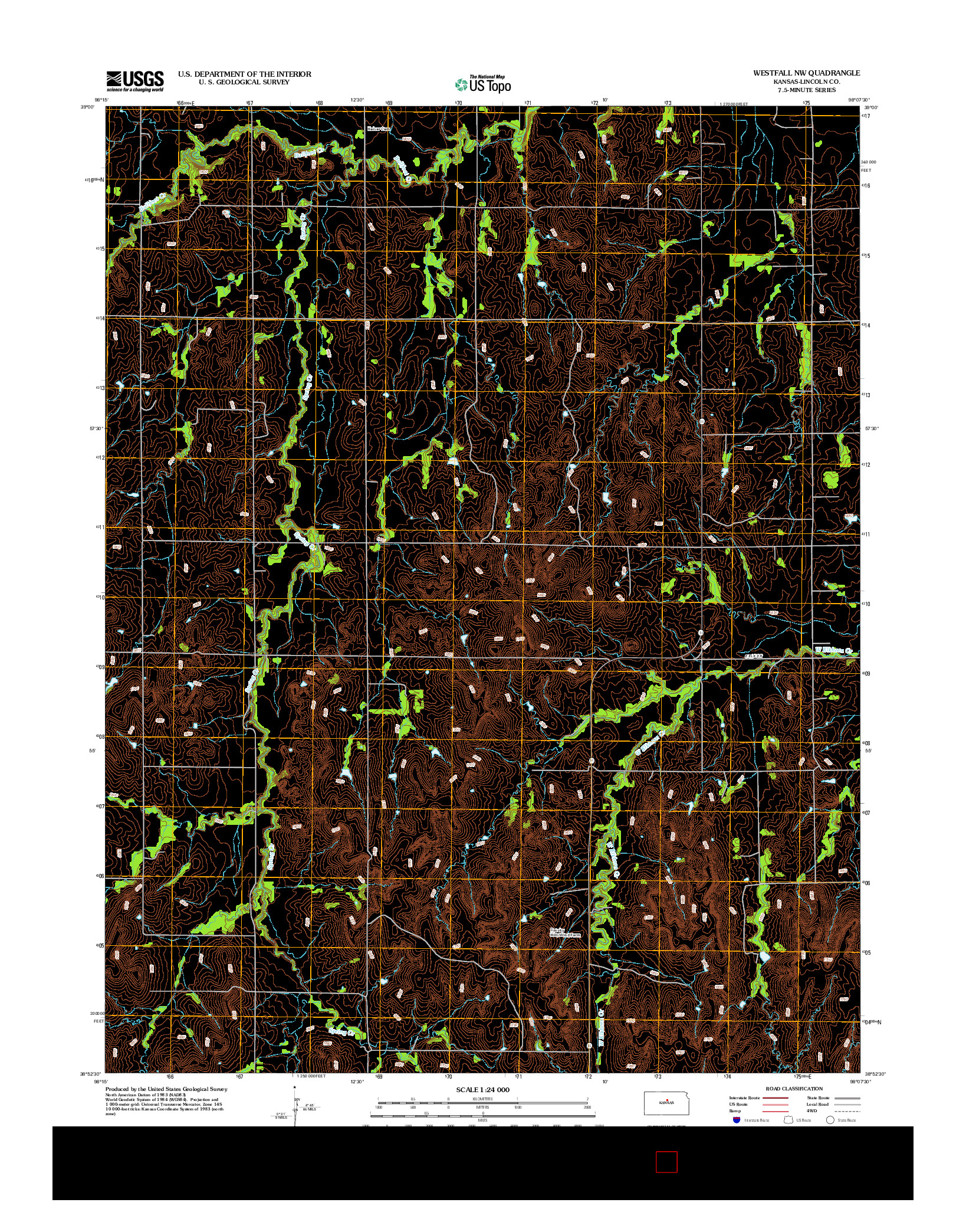 USGS US TOPO 7.5-MINUTE MAP FOR WESTFALL NW, KS 2012