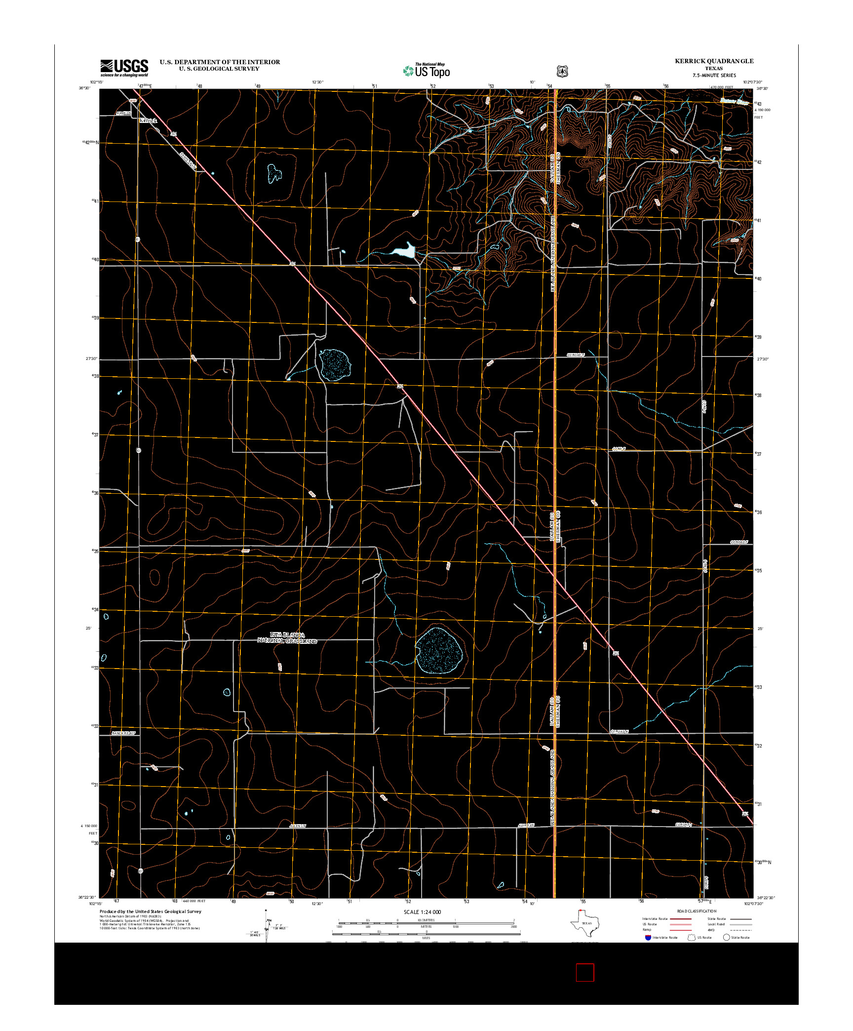 USGS US TOPO 7.5-MINUTE MAP FOR KERRICK, TX 2012