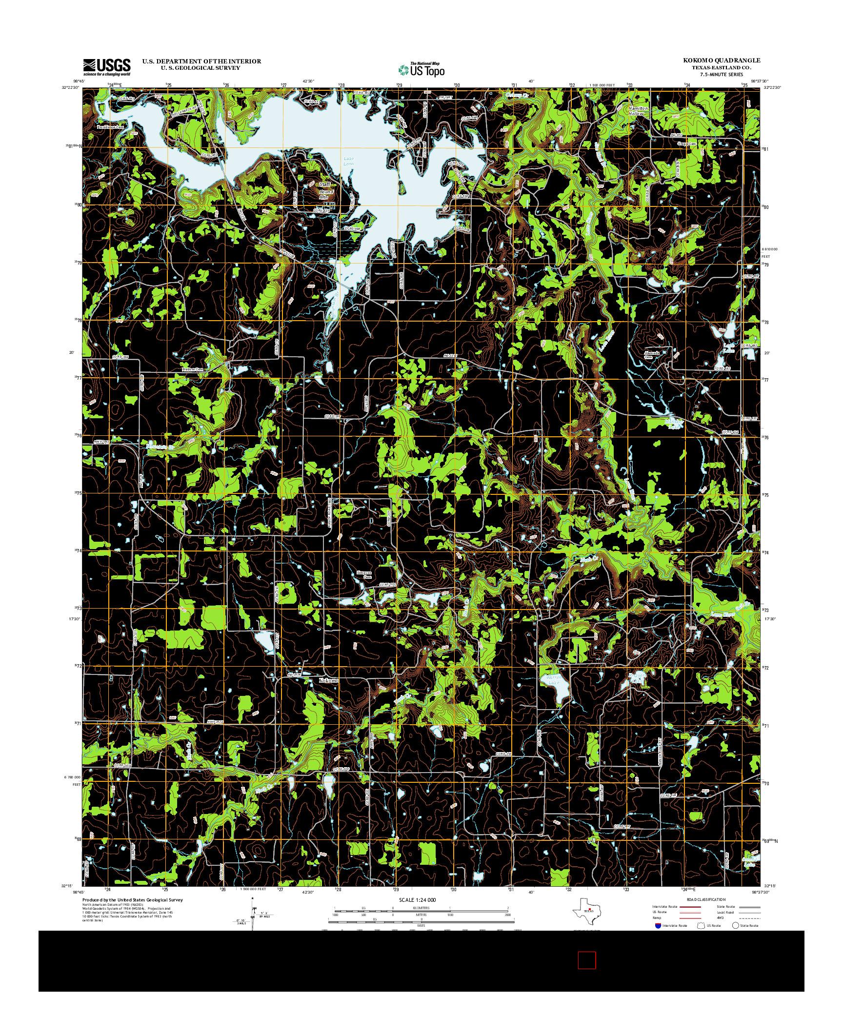 USGS US TOPO 7.5-MINUTE MAP FOR KOKOMO, TX 2012