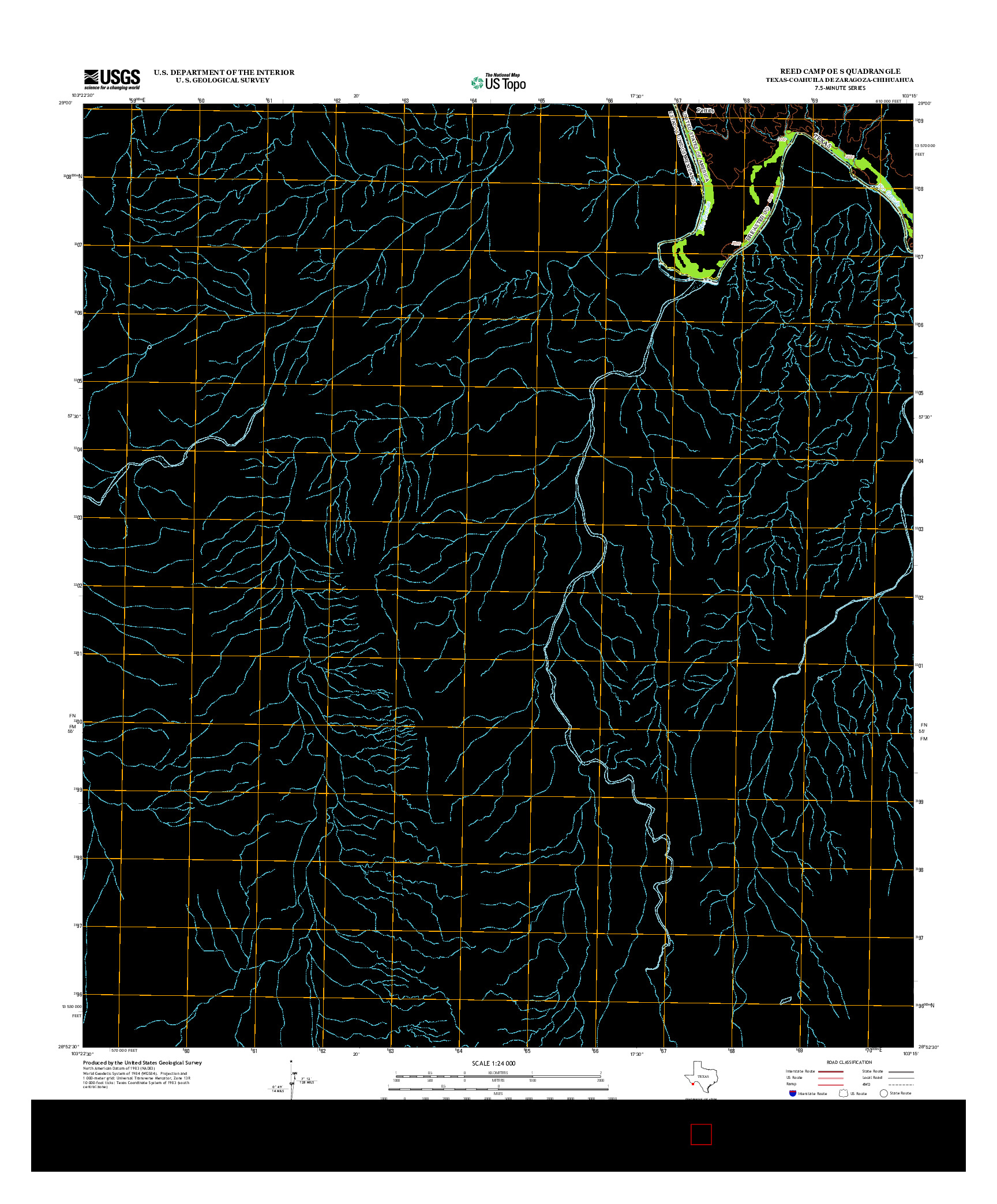 USGS US TOPO 7.5-MINUTE MAP FOR REED CAMP OE S, TX-COA-CHH 2012