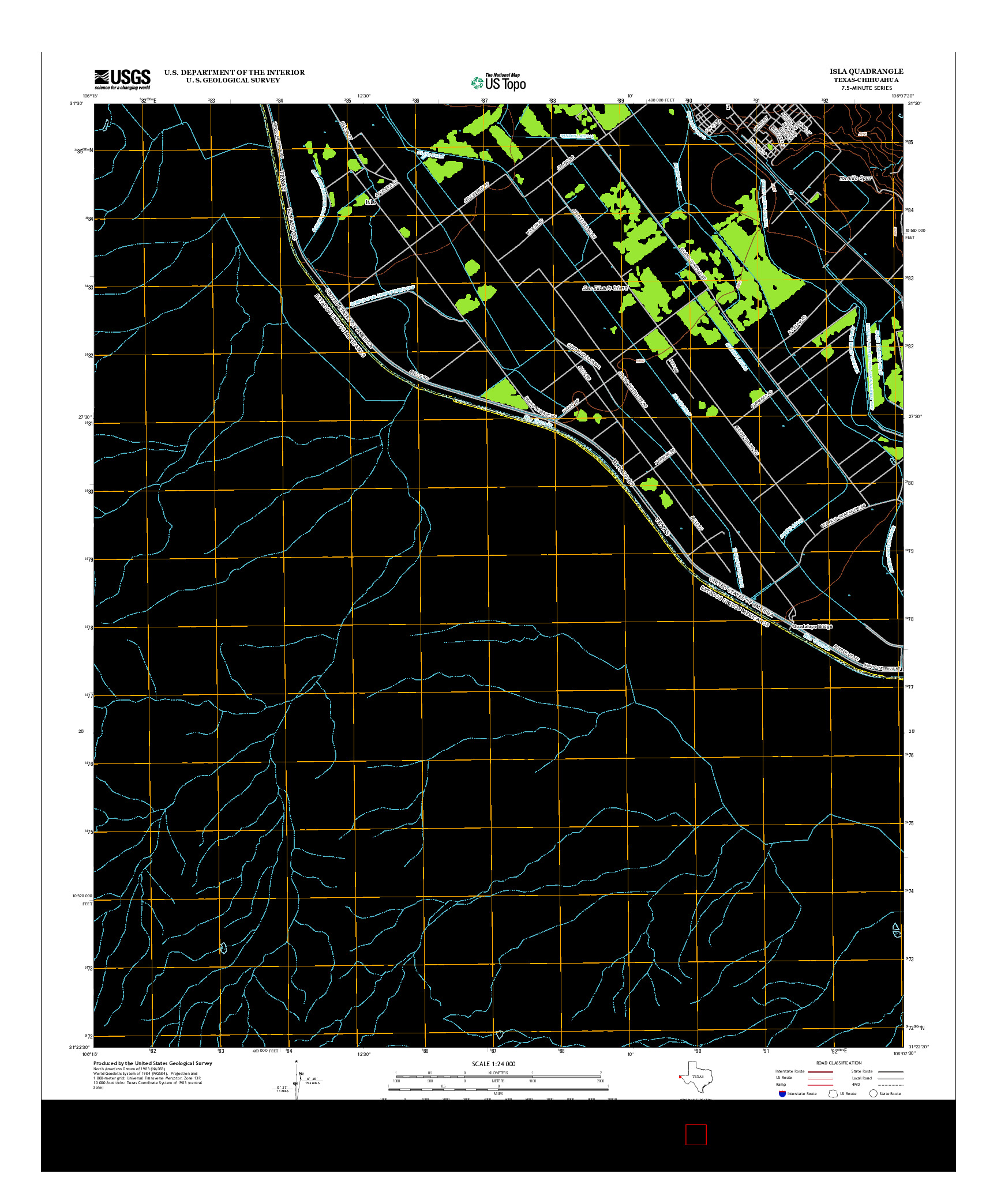 USGS US TOPO 7.5-MINUTE MAP FOR ISLA, TX-CHH 2012