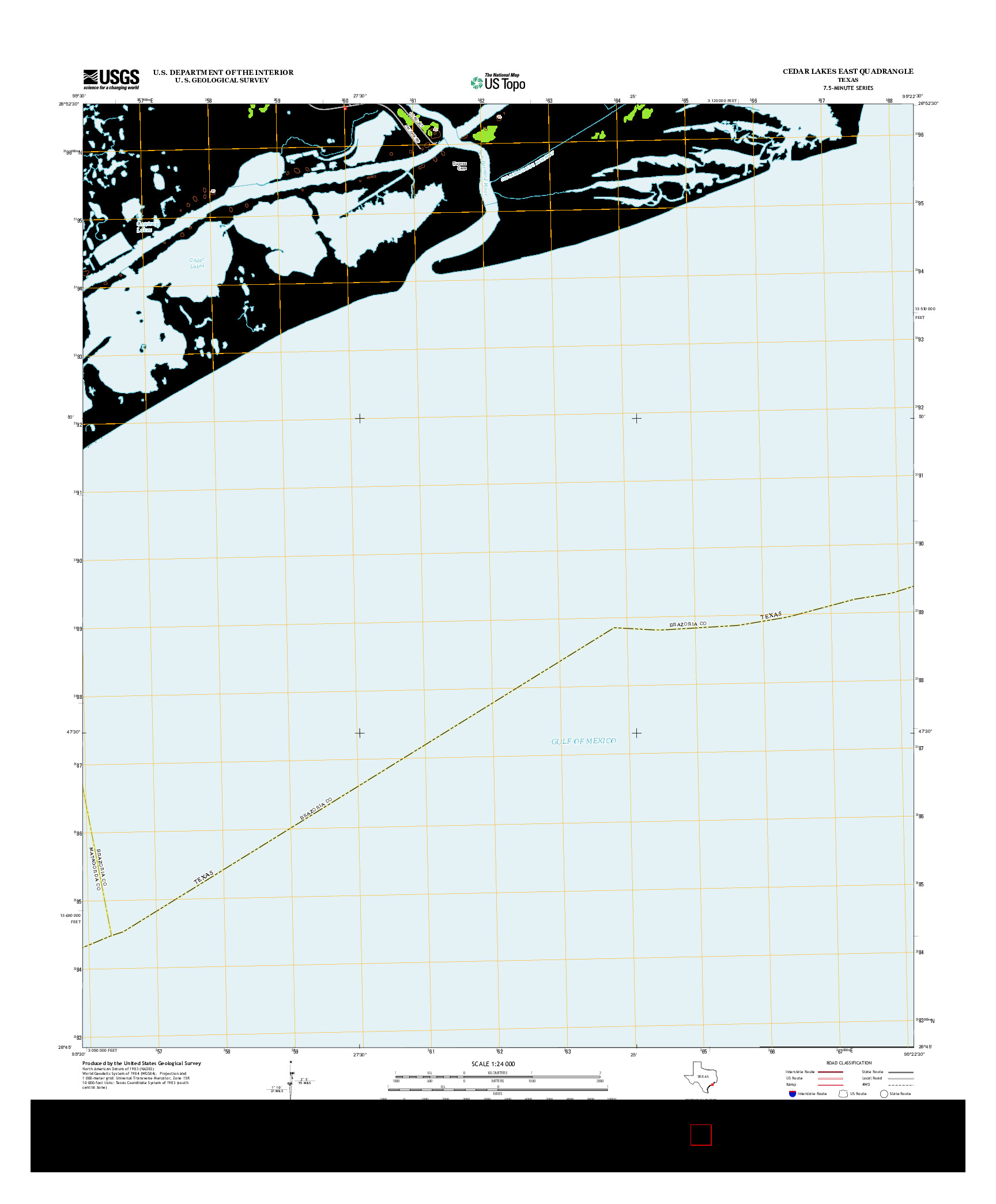 USGS US TOPO 7.5-MINUTE MAP FOR CEDAR LAKES EAST, TX 2013