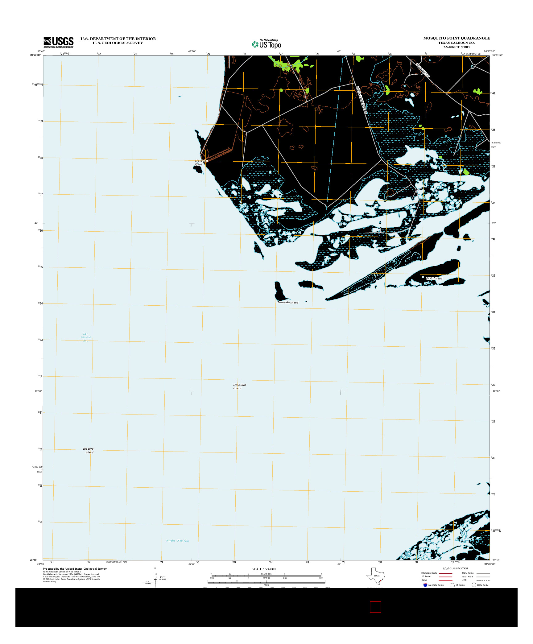 USGS US TOPO 7.5-MINUTE MAP FOR MOSQUITO POINT, TX 2013