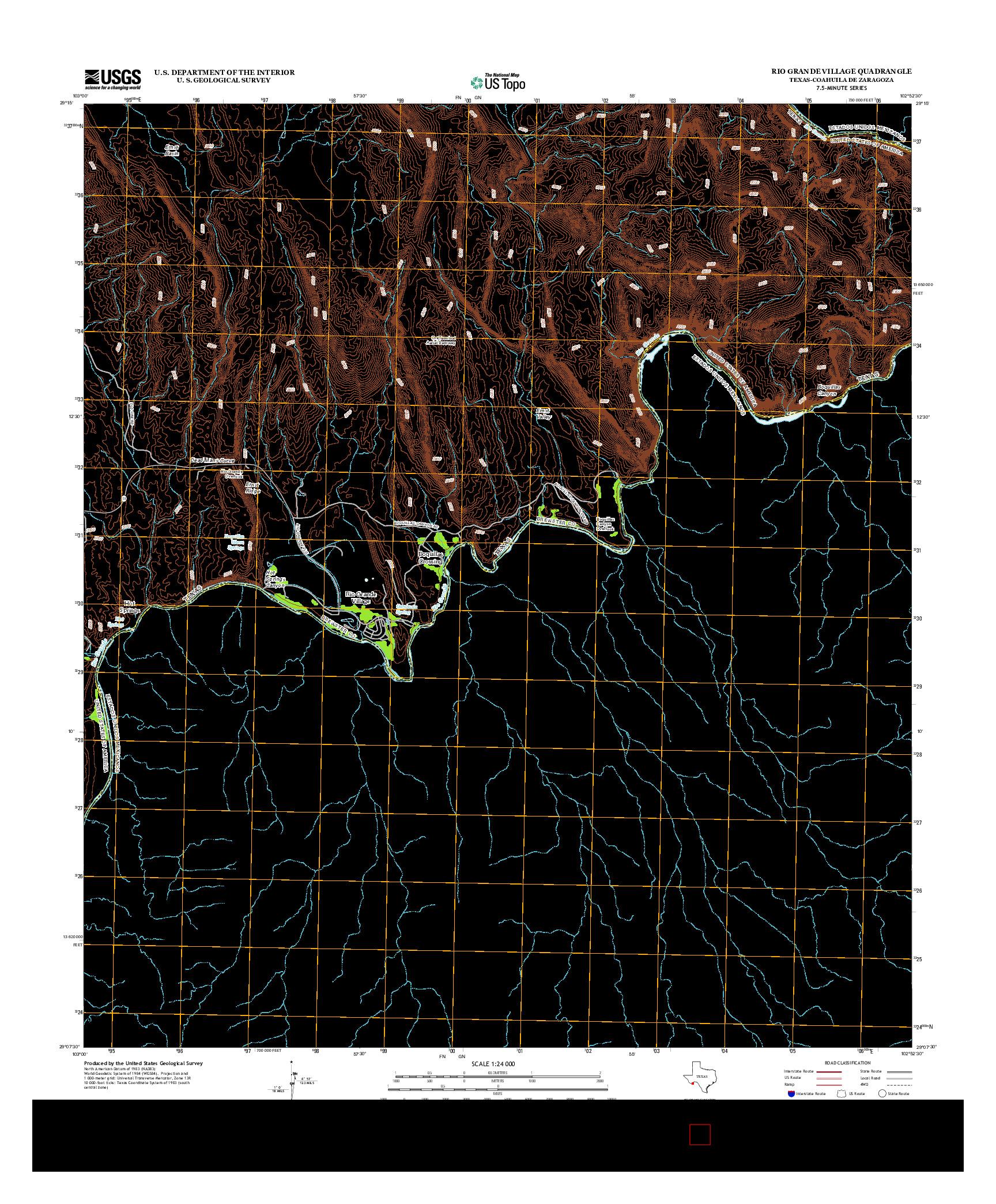 USGS US TOPO 7.5-MINUTE MAP FOR RIO GRANDE VILLAGE, TX-COA 2013