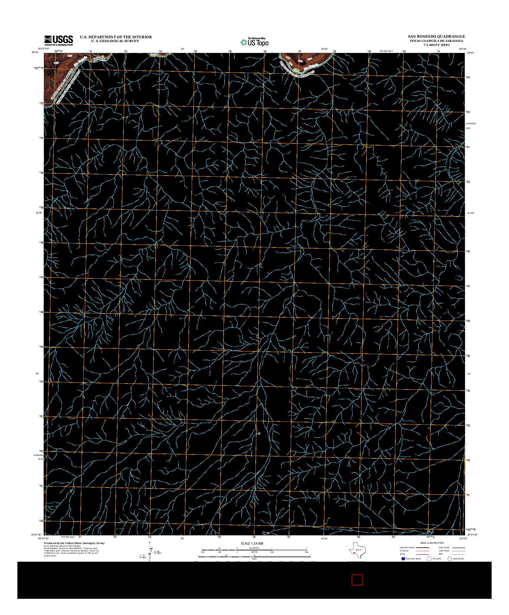 USGS US TOPO 7.5-MINUTE MAP FOR SAN ROSENDO, TX-COA 2013