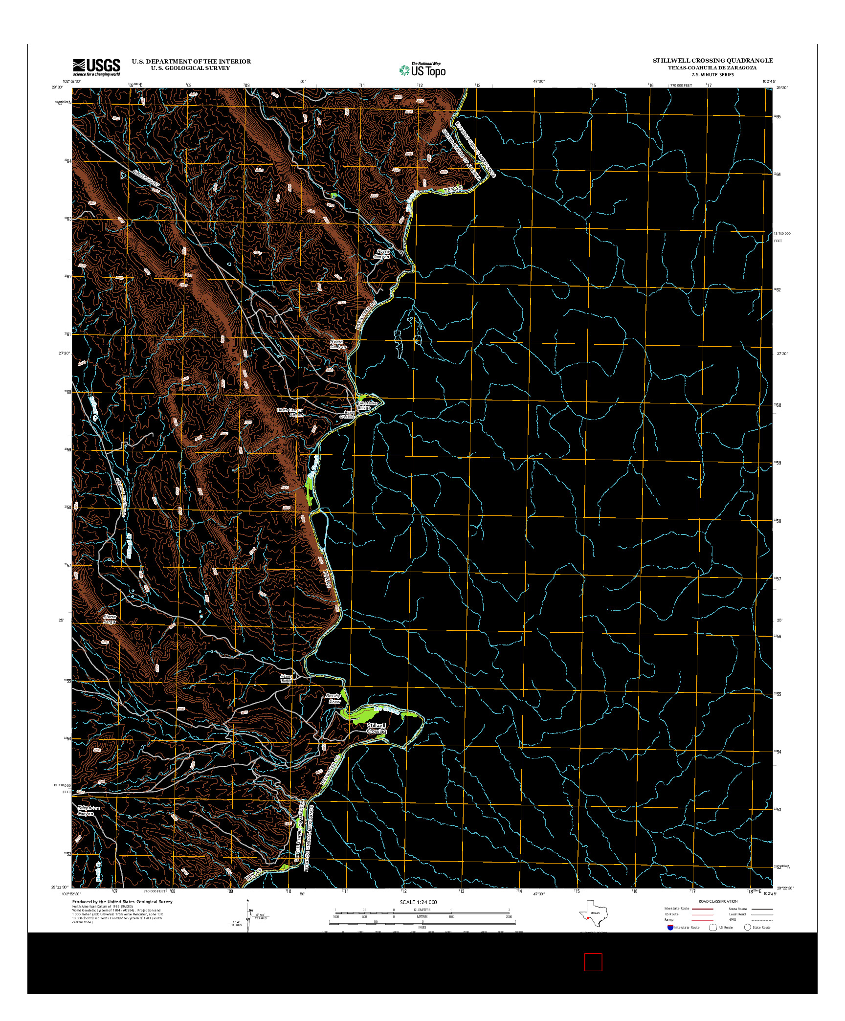 USGS US TOPO 7.5-MINUTE MAP FOR STILLWELL CROSSING, TX-COA 2013