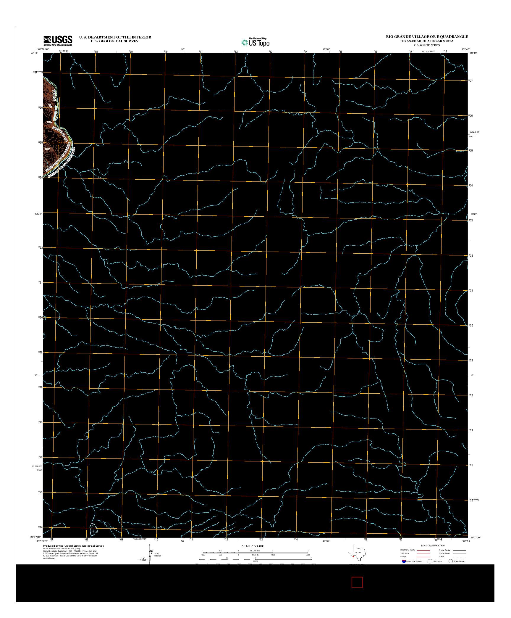 USGS US TOPO 7.5-MINUTE MAP FOR RIO GRANDE VILLAGE OE E, TX-COA 2013