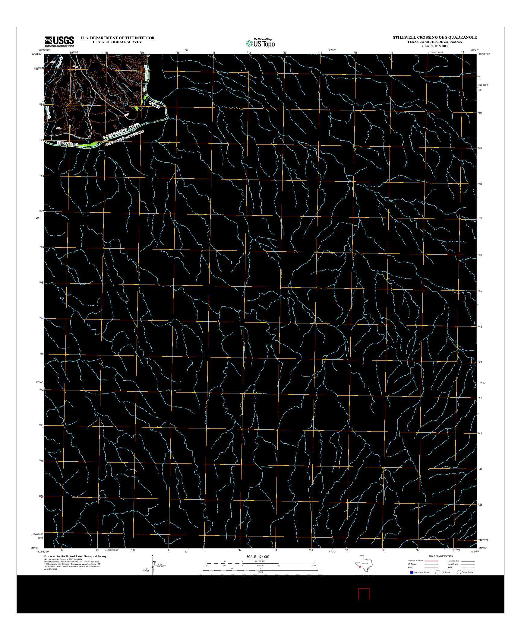 USGS US TOPO 7.5-MINUTE MAP FOR STILLWELL CROSSING OE S, TX-COA 2013