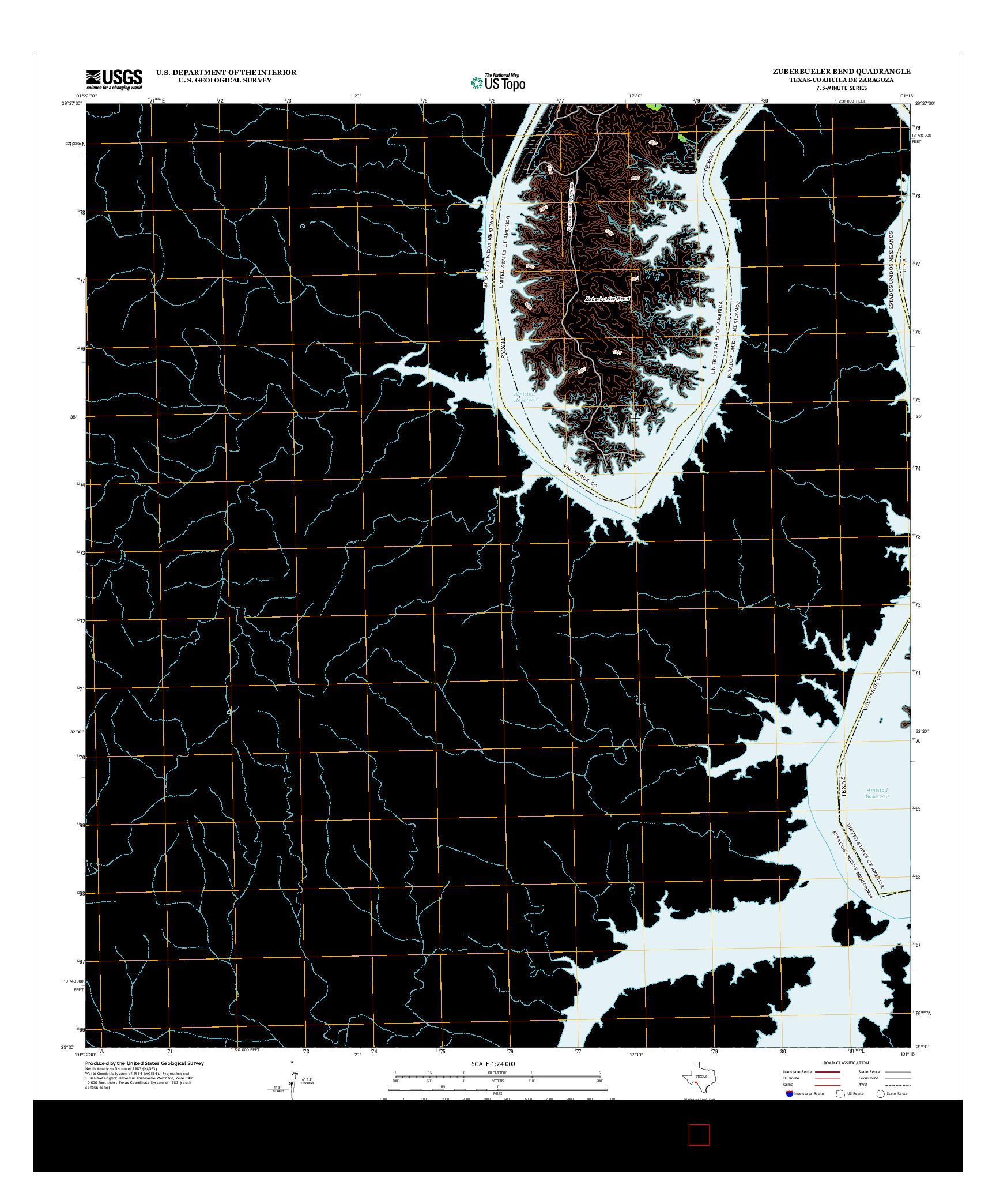 USGS US TOPO 7.5-MINUTE MAP FOR ZUBERBUELER BEND, TX-COA 2013