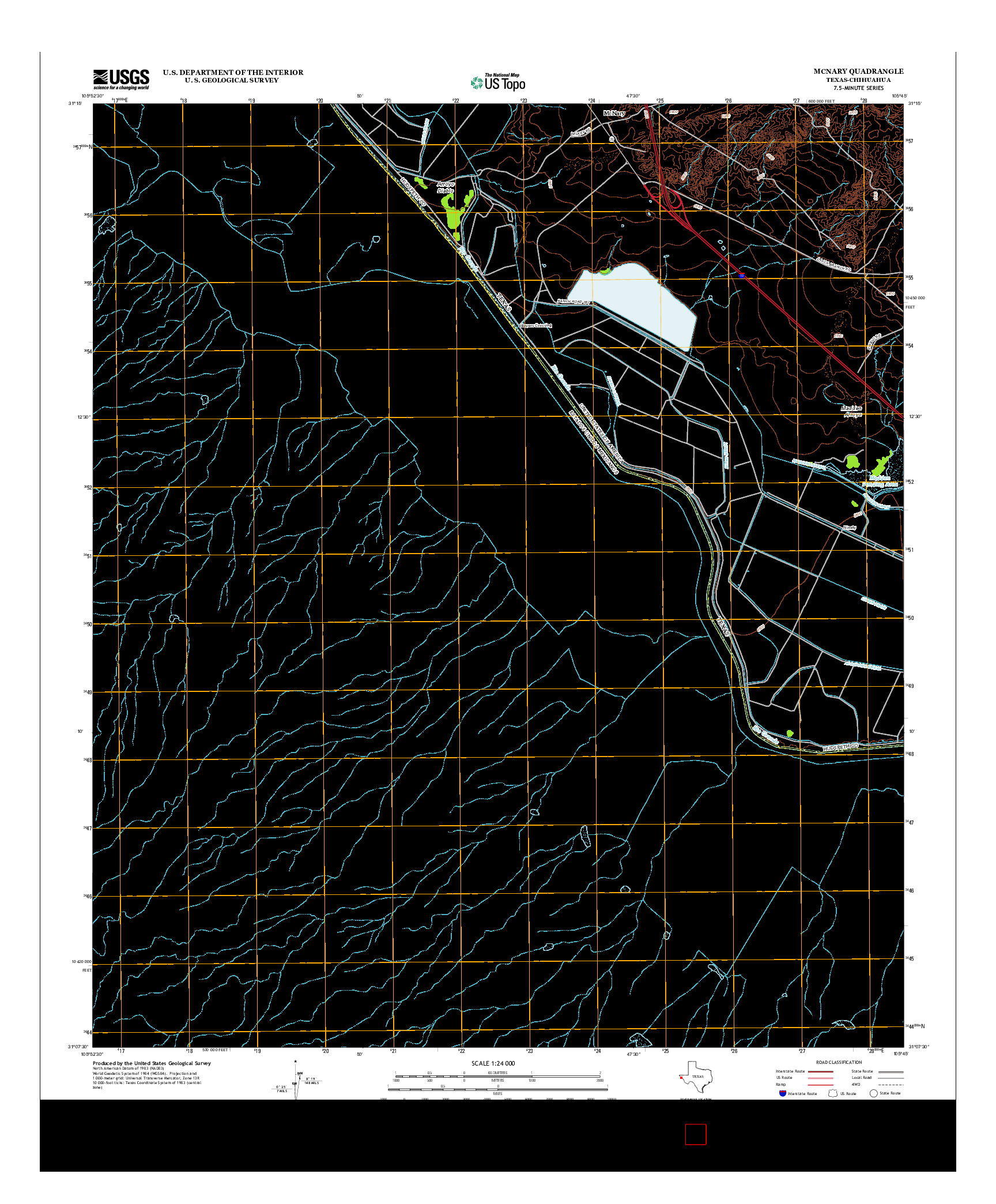USGS US TOPO 7.5-MINUTE MAP FOR MCNARY, TX-CHH 2013