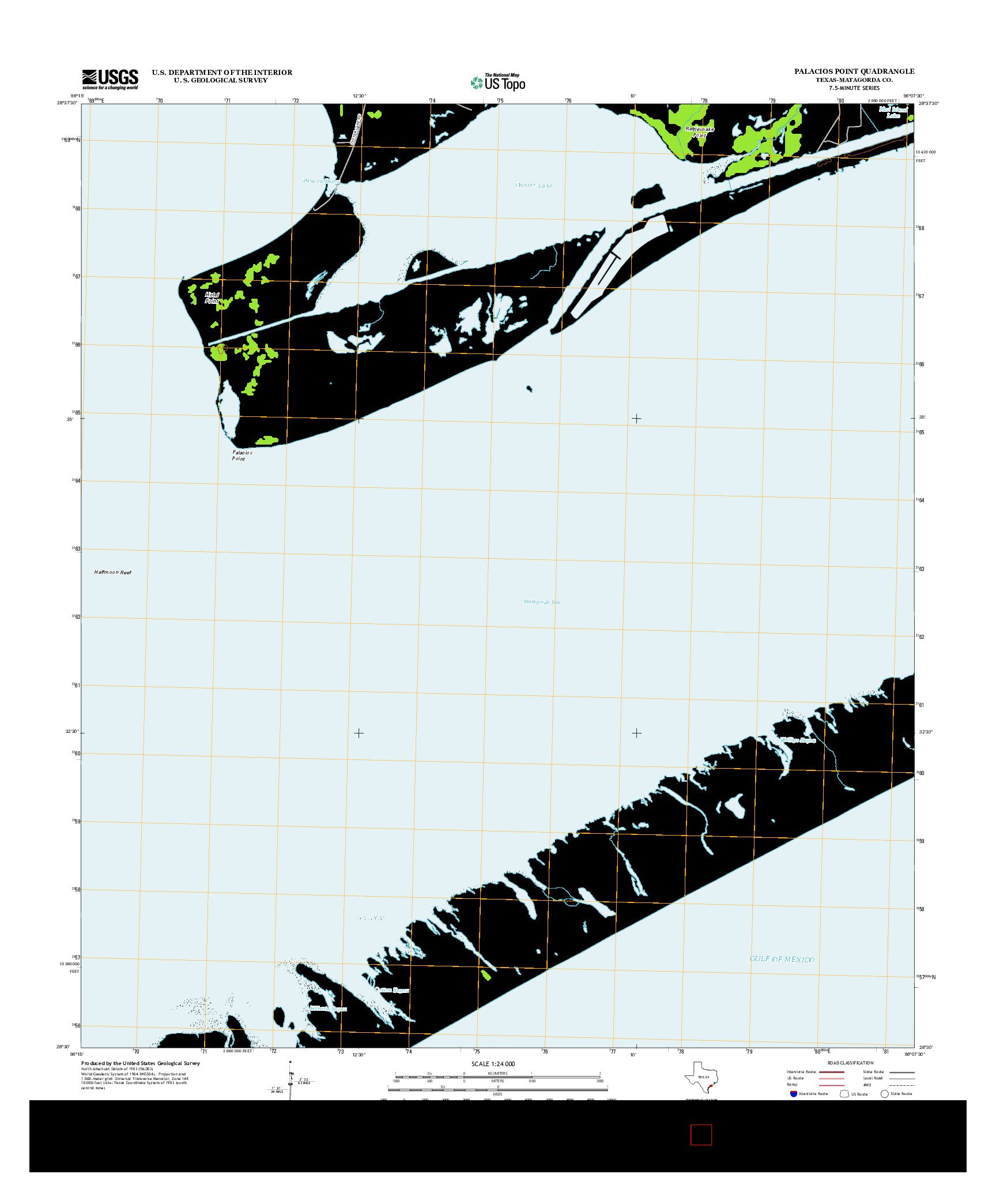 USGS US TOPO 7.5-MINUTE MAP FOR PALACIOS POINT, TX 2013