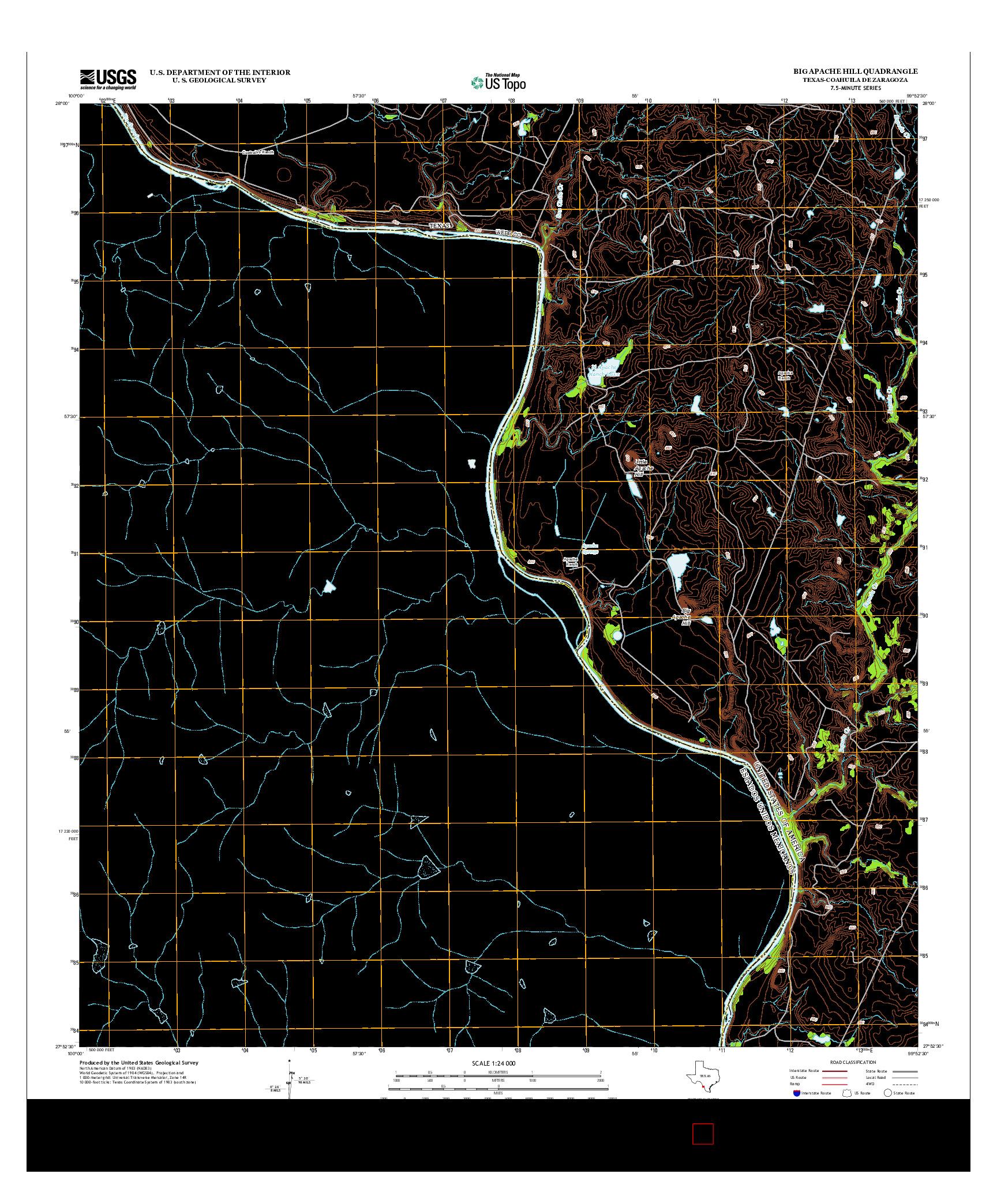 USGS US TOPO 7.5-MINUTE MAP FOR BIG APACHE HILL, TX-COA 2013