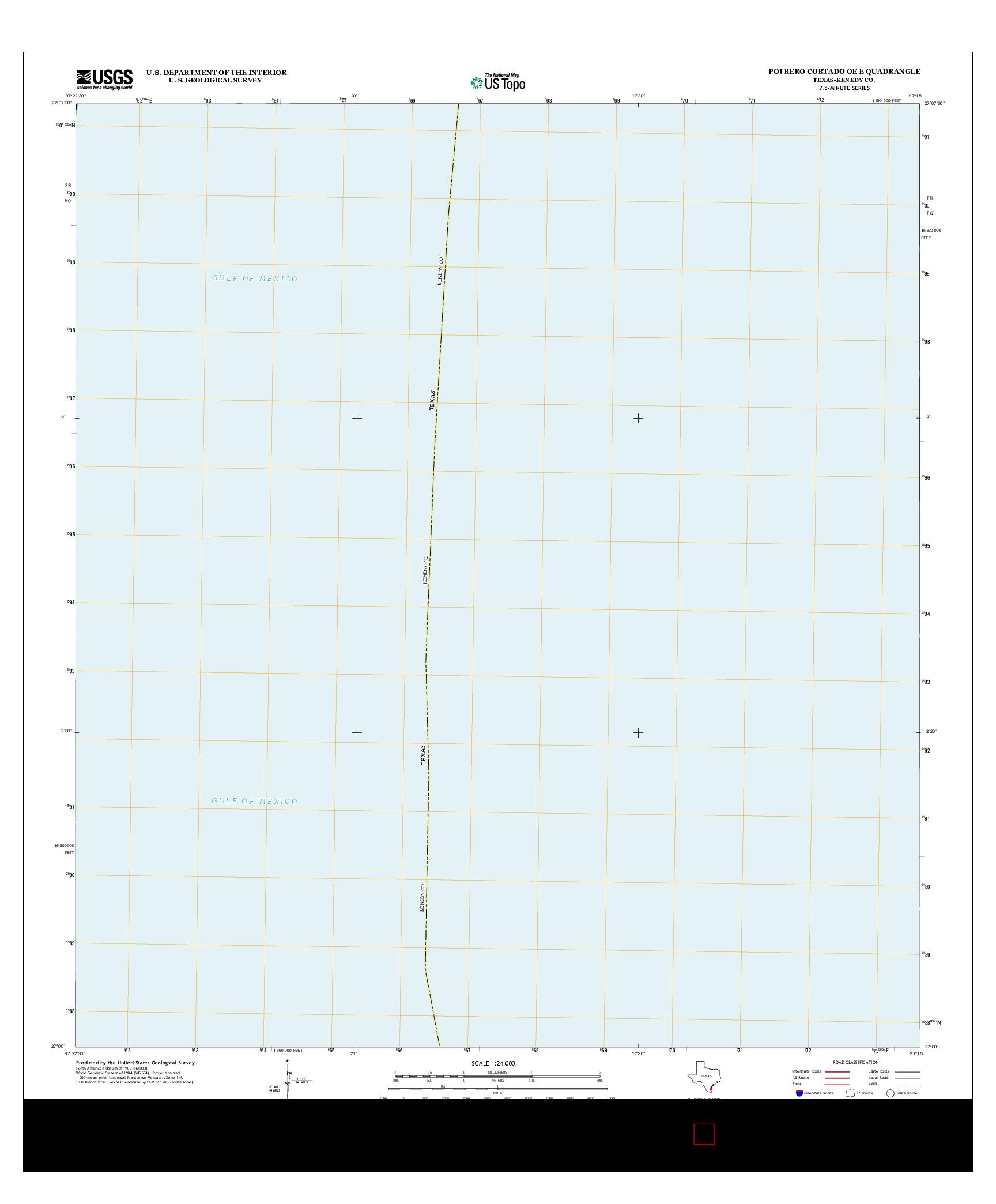 USGS US TOPO 7.5-MINUTE MAP FOR POTRERO CORTADO OE E, TX 2013